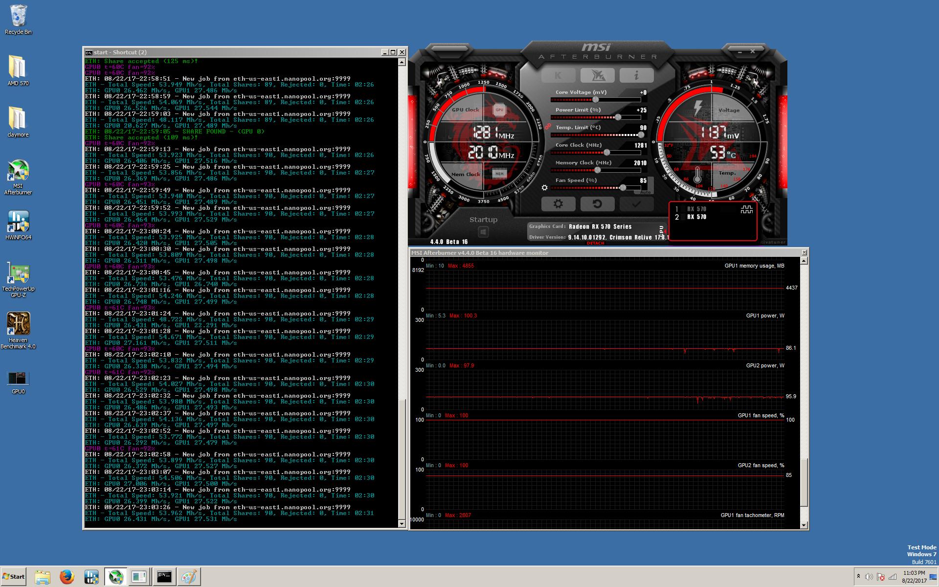 Radeon MSI RX570 4 GB ARMOR OC - MSI Afterburner not working