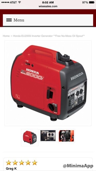 Best Small Generator for t@b needs