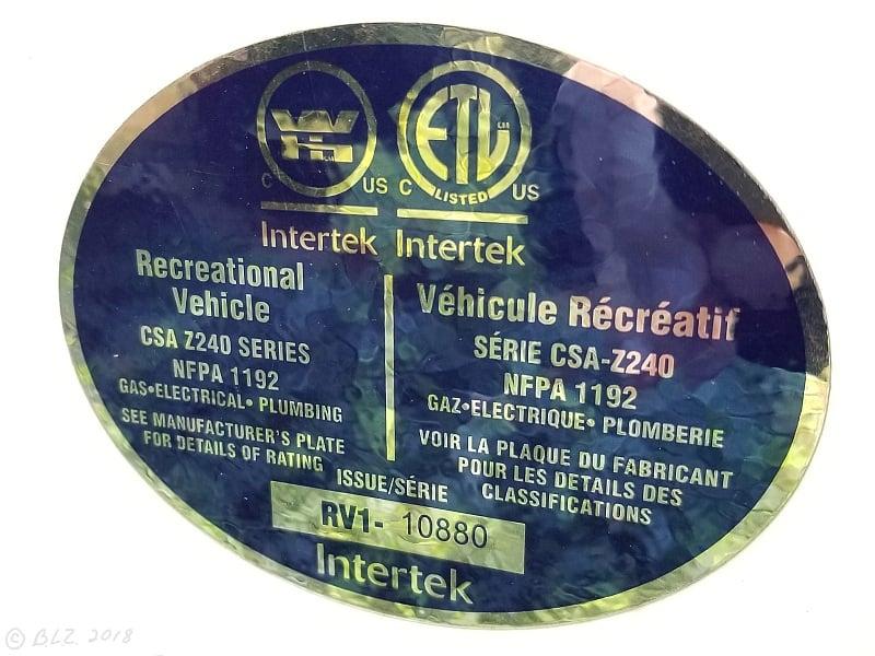 Rvia And Intertek Seals