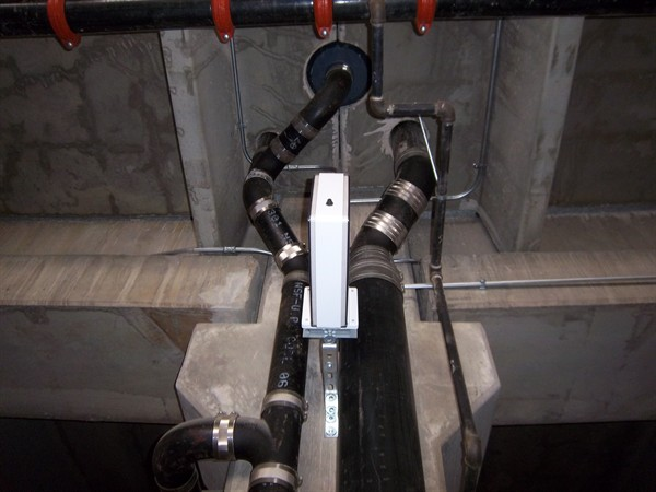 Trap on quot sewer main in basement — heating help the wall