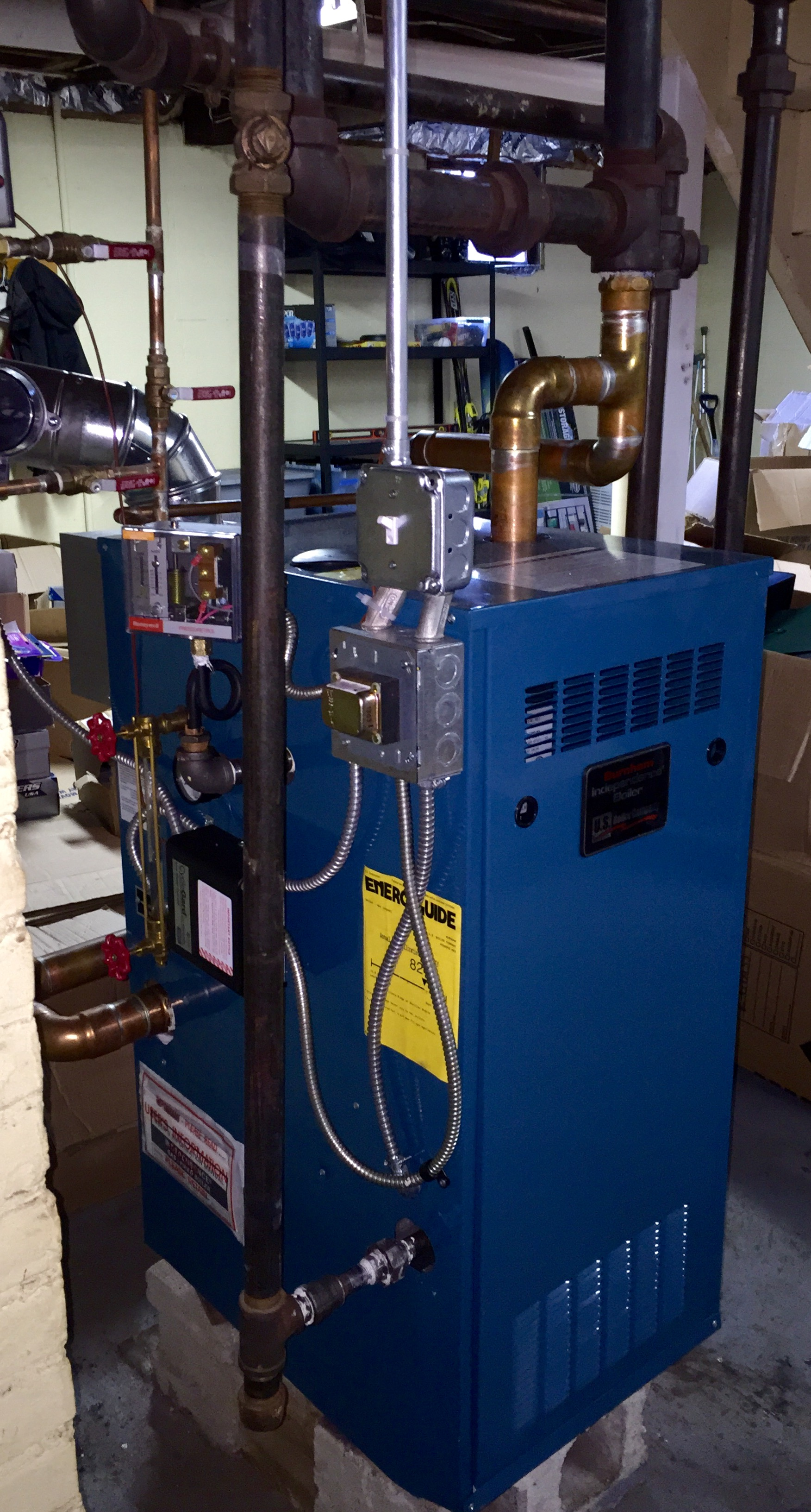 Is My New Burnham Independence Steam Boiler Not Running Properly   U2014 Heating Help  The Wall