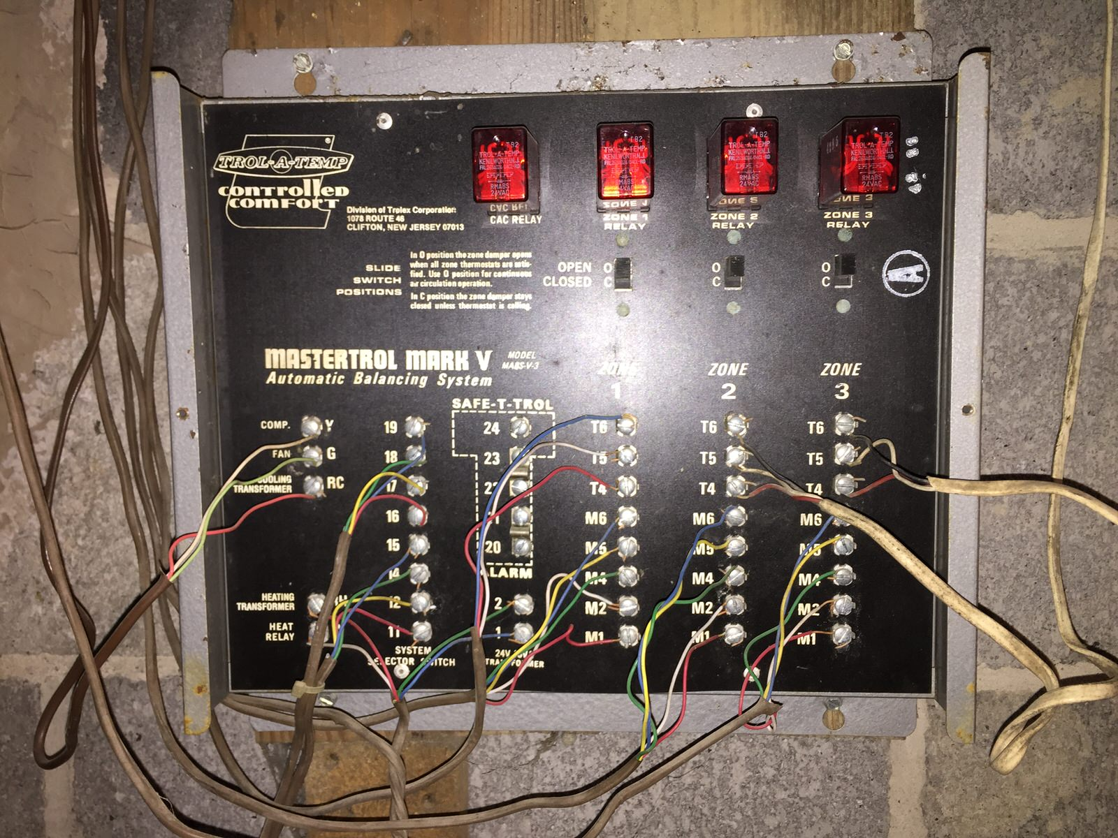 Wiring Honeywell HZ322 from a Trol A Temp Mastertrol Mark