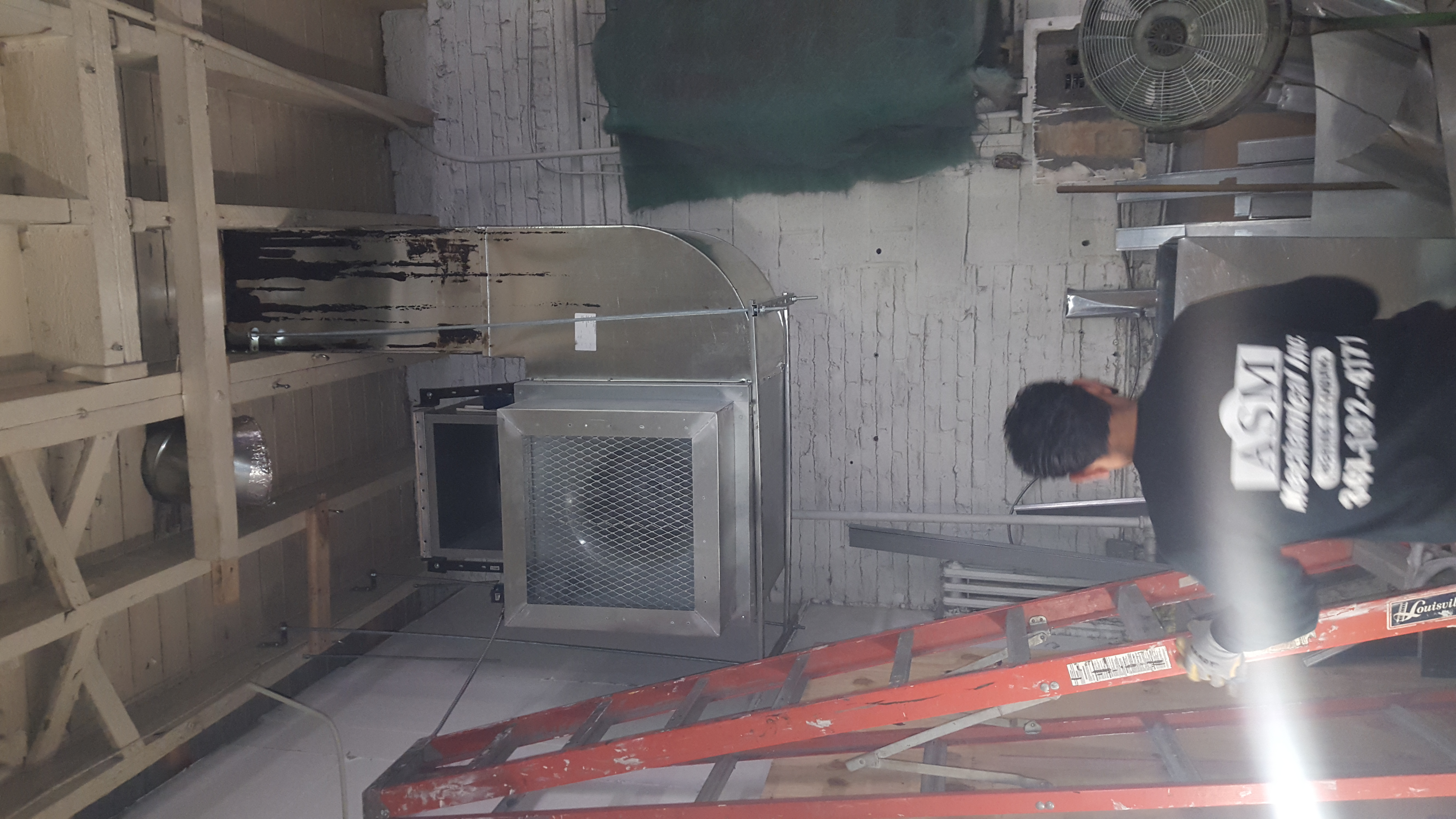 sizing exhaust fan for auto body shop — Heating Help: The Wall