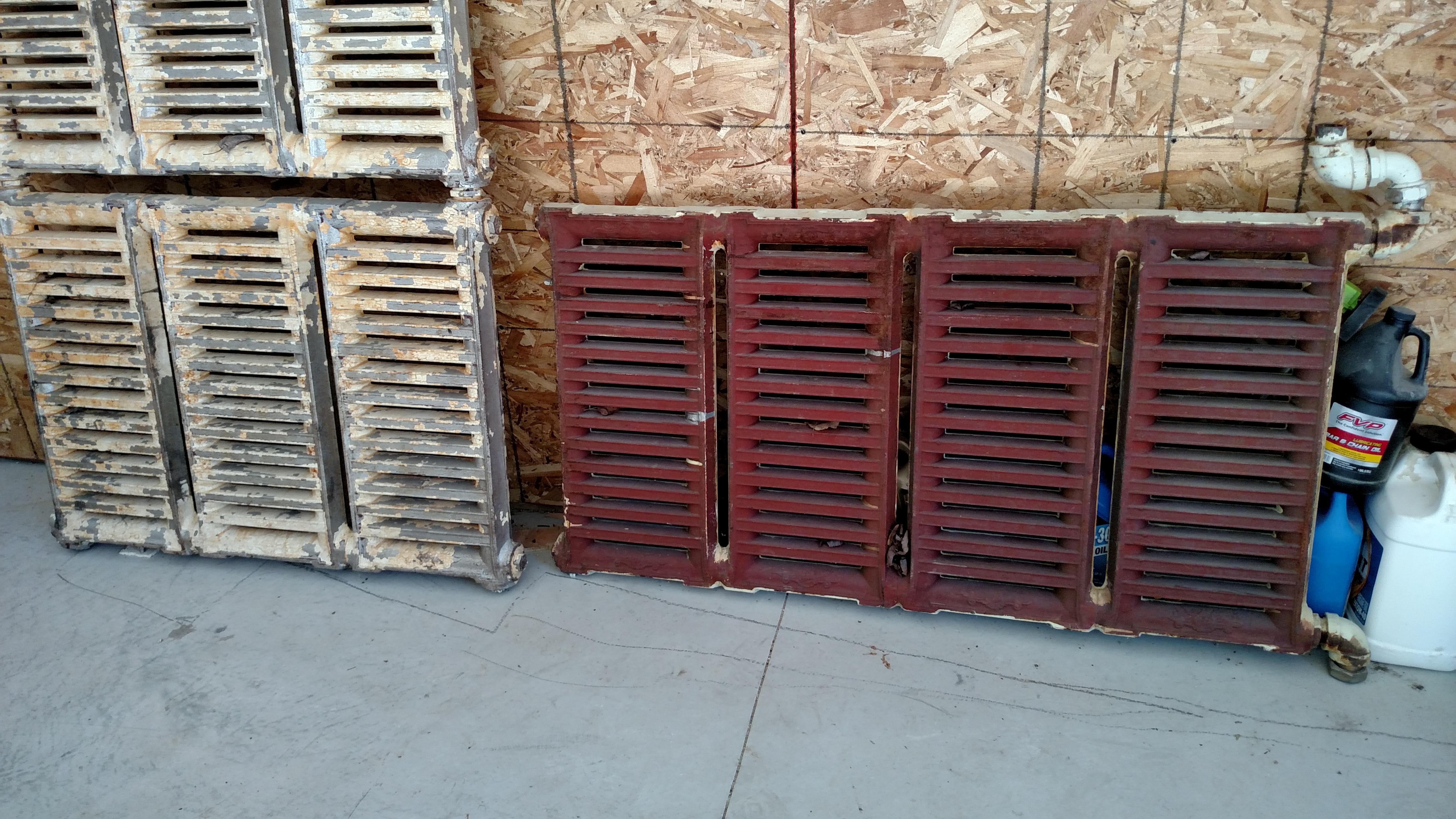 Cast iron radiator hook up