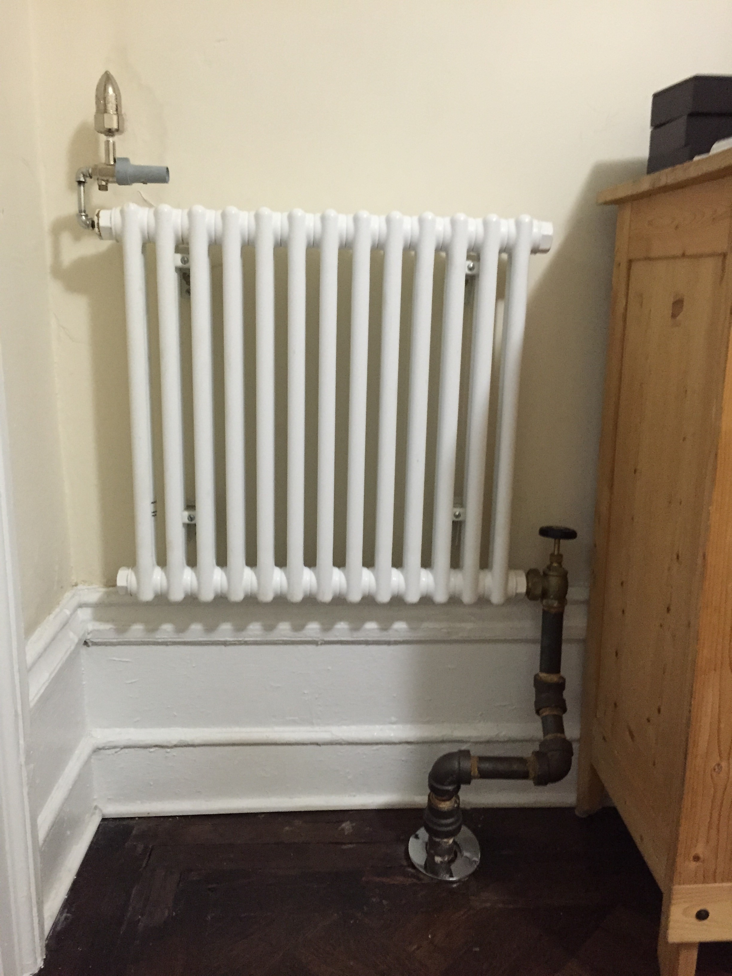 Help needed how much btu sections do i need rooms are for Small slim radiators