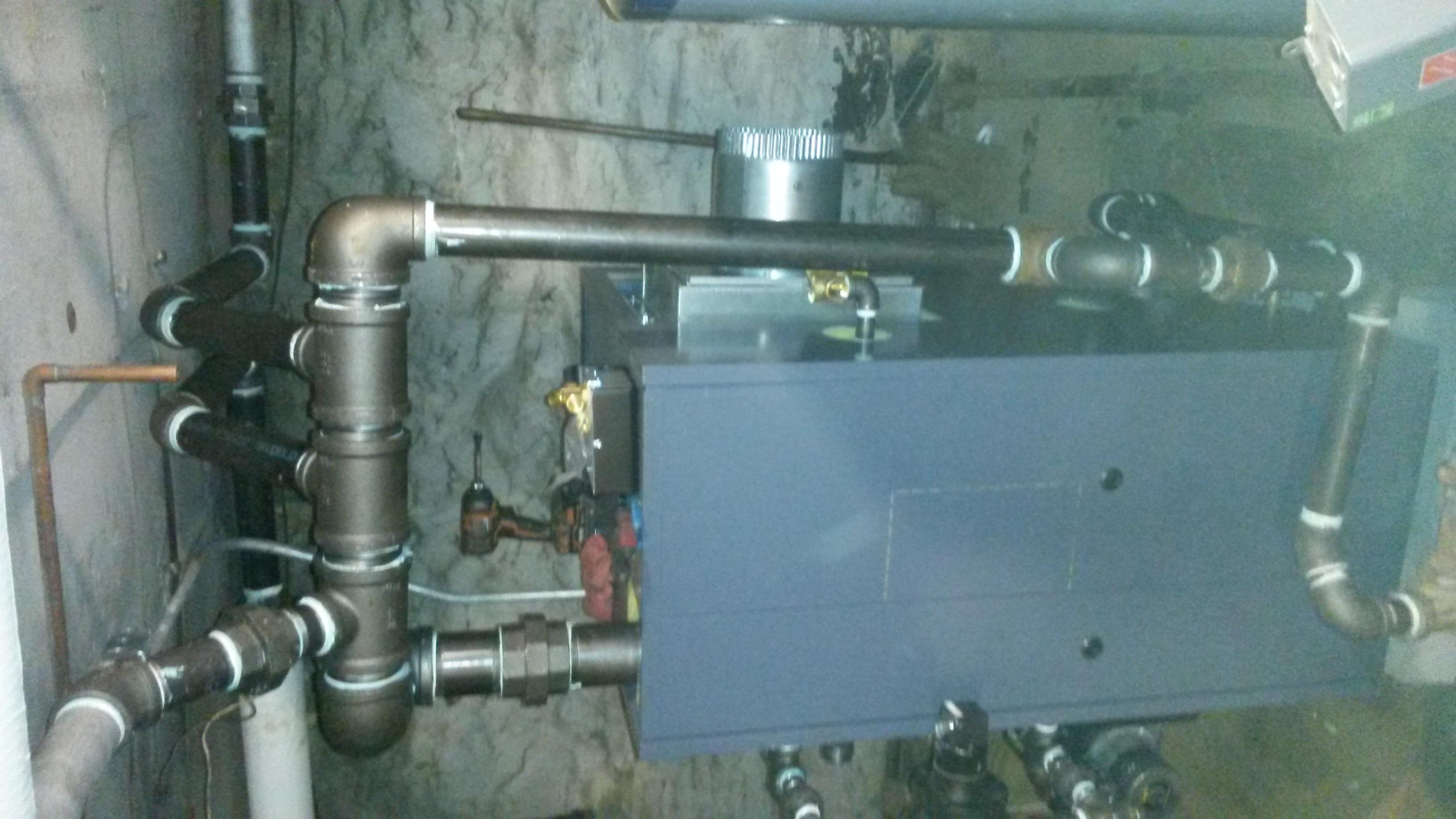 New Weil-McLain steam boiler installation- \