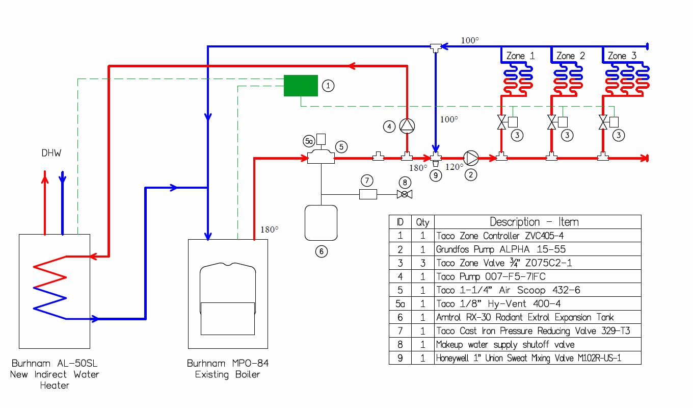 4 Way Mixing Valve Piping Diagram - Wiring Diagrams Name Weil Mclain Boilers Zone Valves Wiring Diagram on