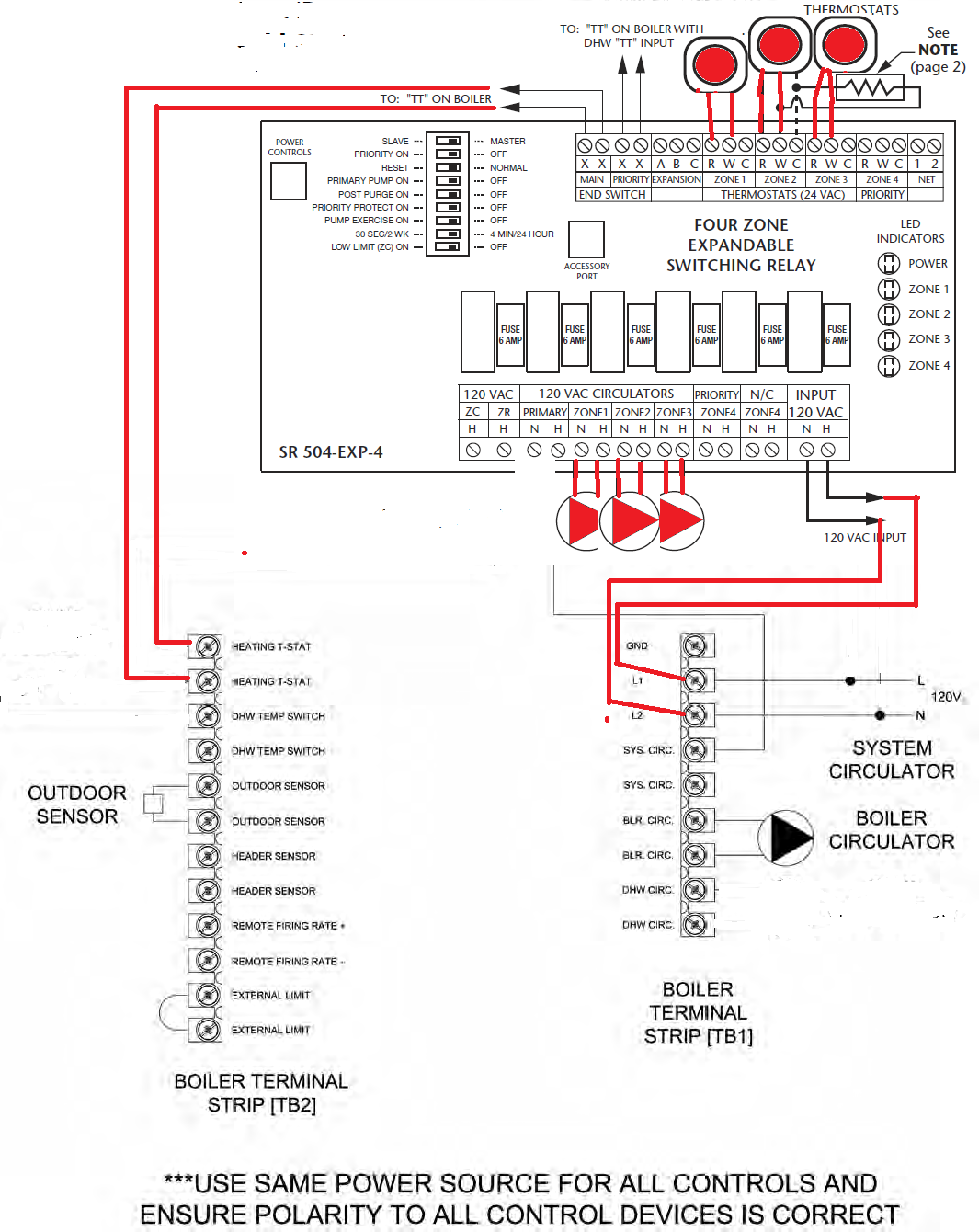 Taco Relay Panel Wiring Real Diagram Expandable Zone Valve Multiple Sr503 Switching