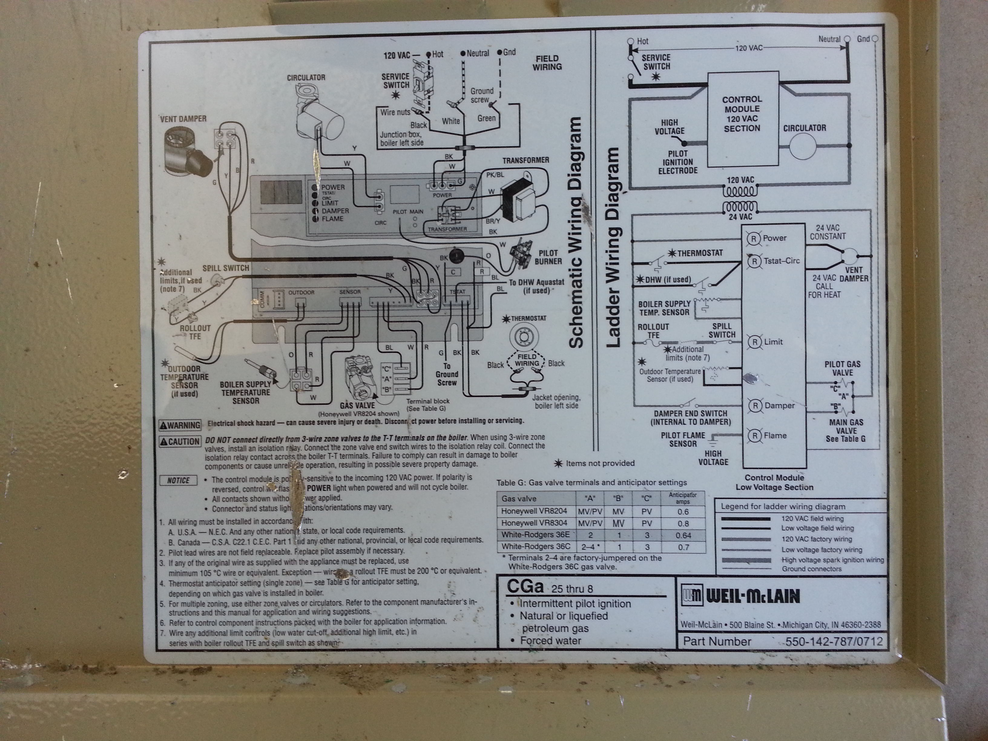 Weil Mclain Gold Oil Boiler Manual Schematic Diagram