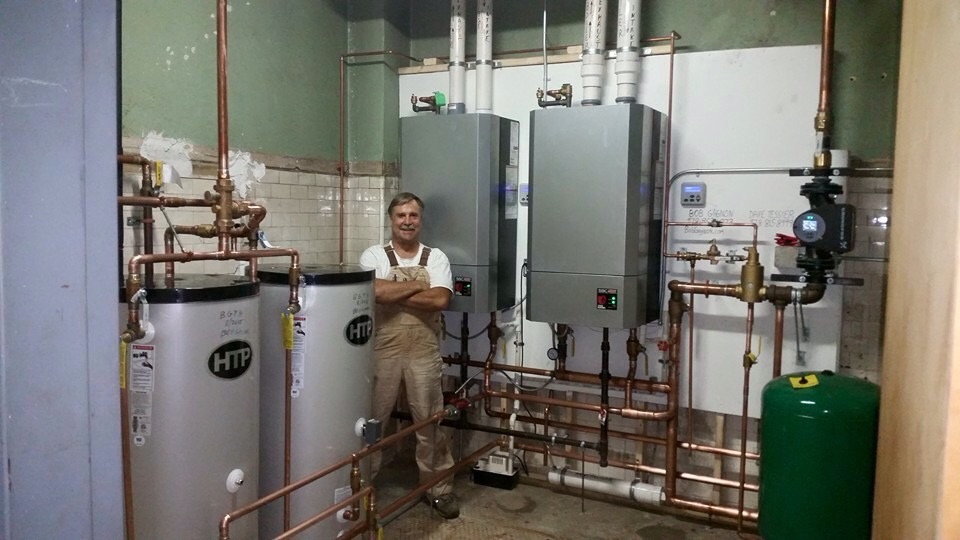 Boston High Efficiency Boiler Install — Heating Help: The Wall