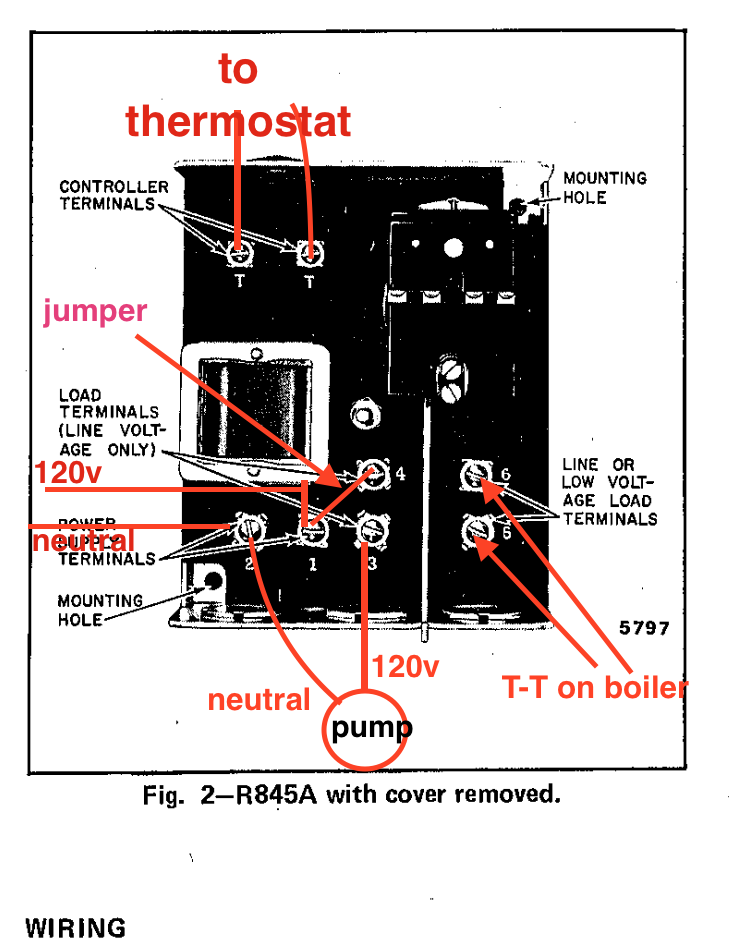 Thermostat Relay Wiring Diagram : Circulator pump relay wiring honeywell r a — heating