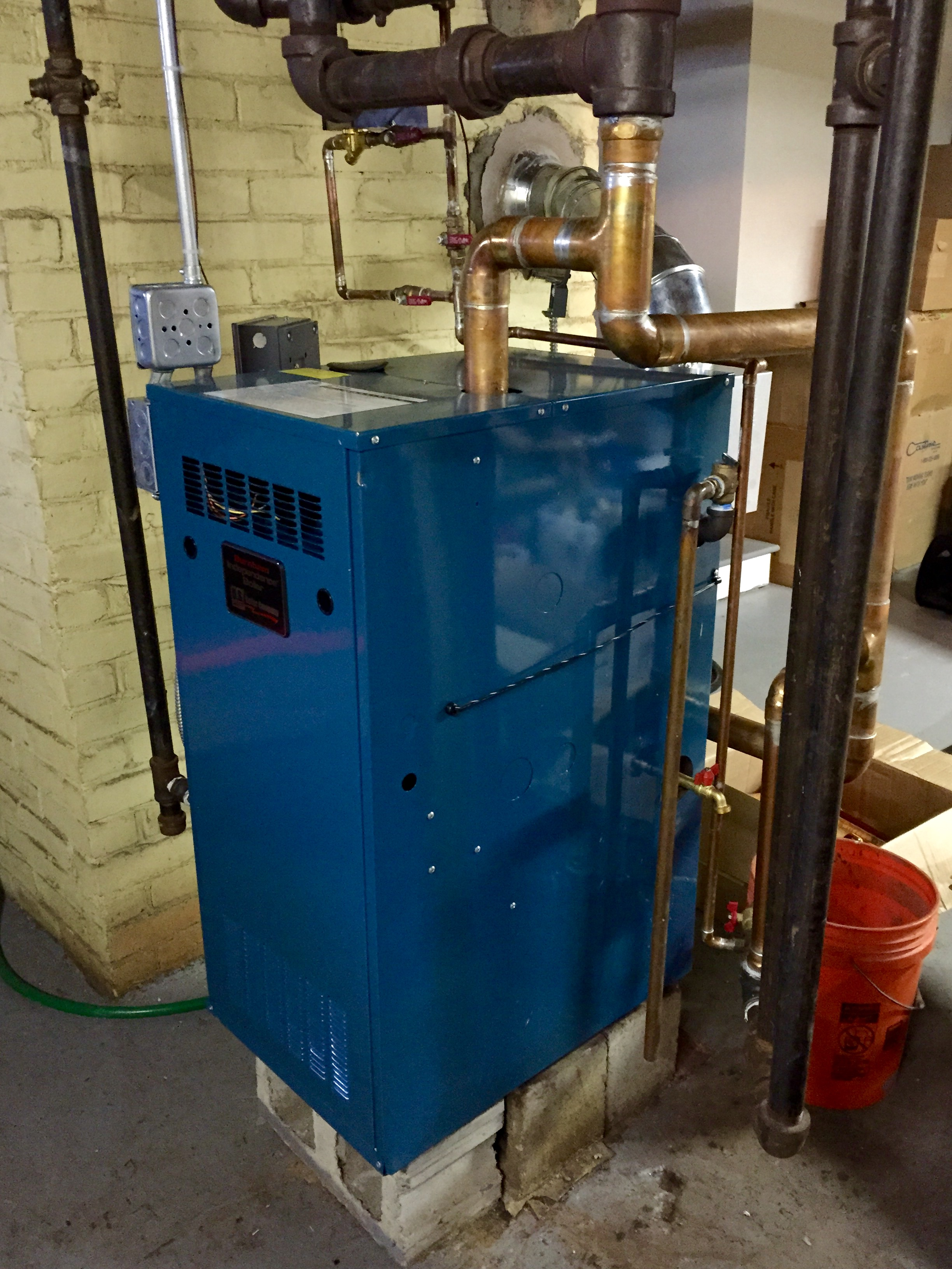 Is My New Burnham Independence Steam Boiler Not Running Properly Piping Diagram Of Front Right