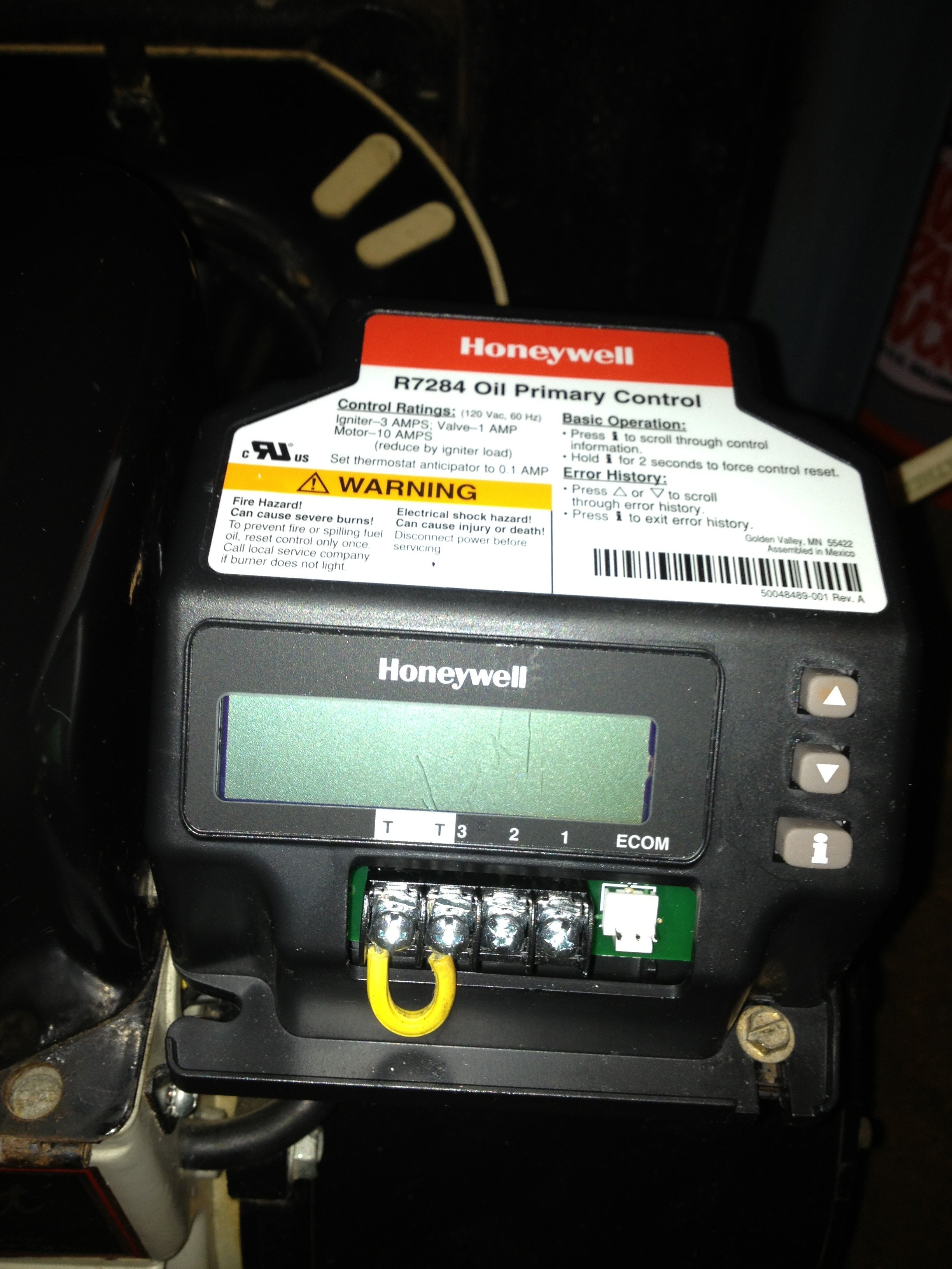 Honeywell R7284 Wiring Diagram Free Download bull Oasis dl co