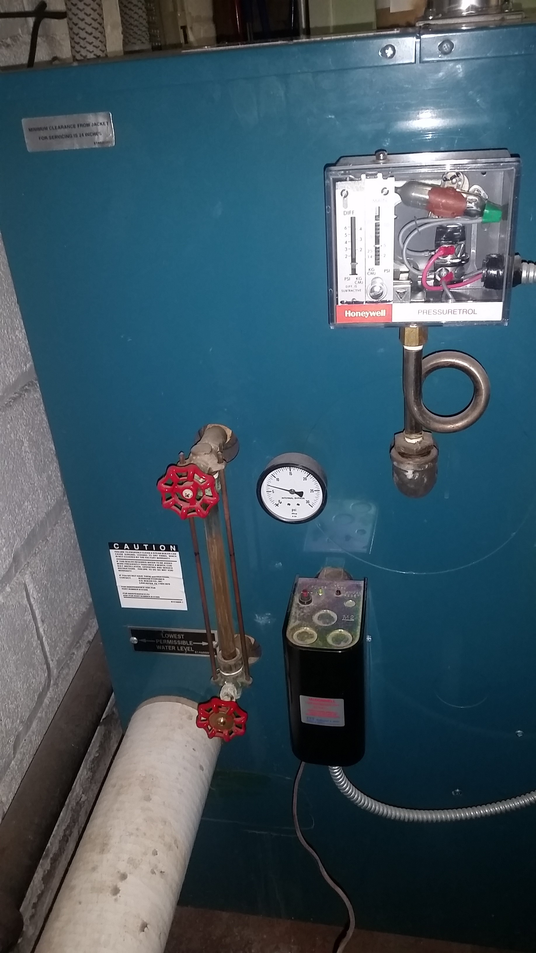 System main venting and operating pressure problems — Heating Help ...