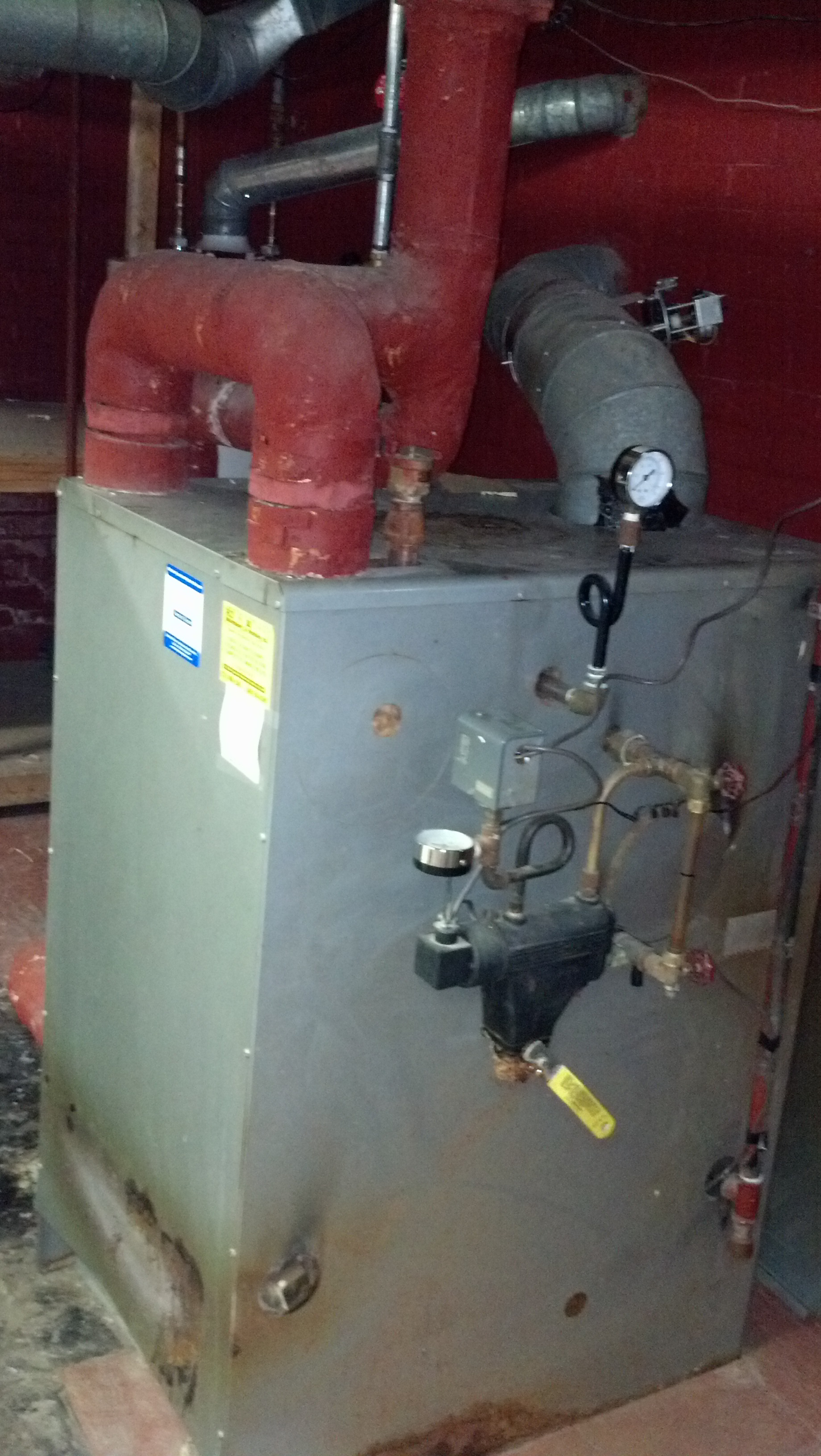 Recent Steam Boiler Install — Heating Help: The Wall