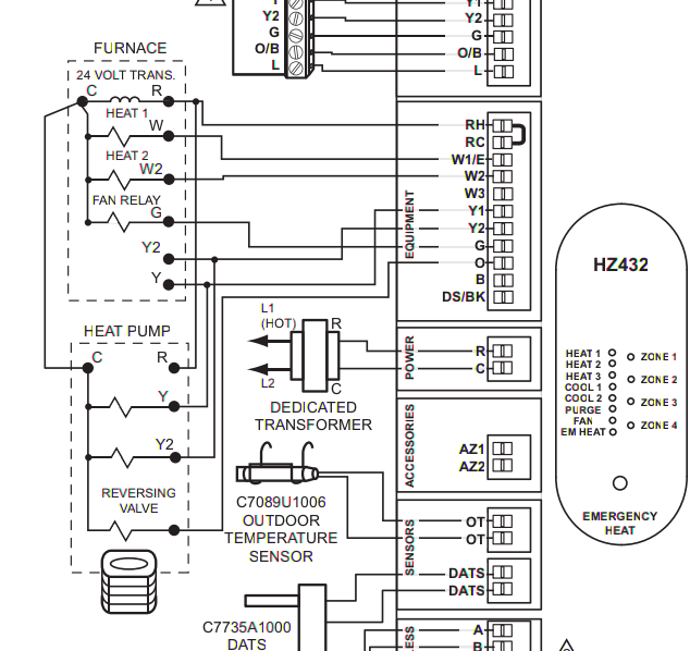 multistage, multizone wiring of thermostats \u2014 heating help the wall HVAC Thermostat Wiring Diagram