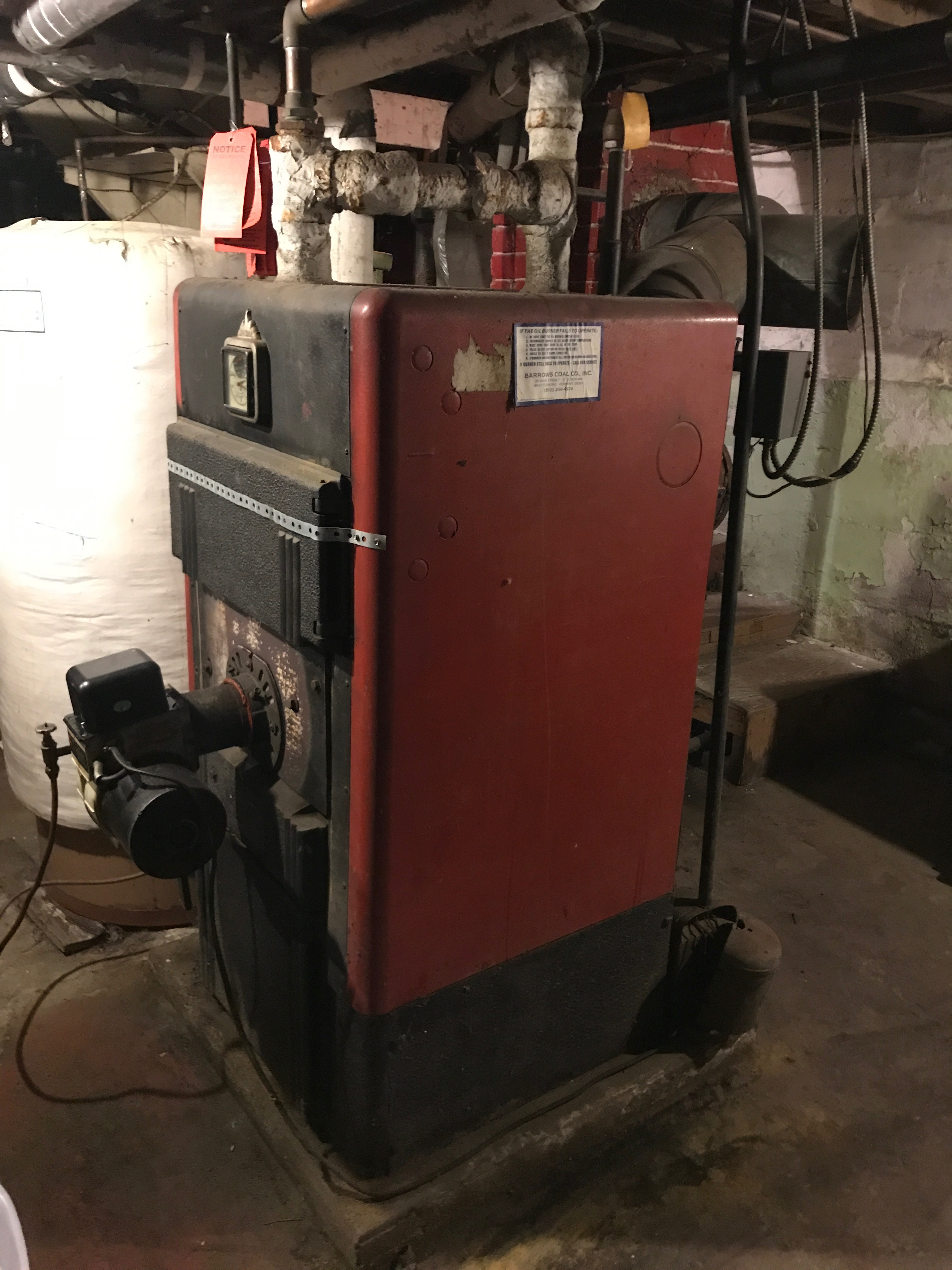 Old Steam Boiler With Attic Expansion Tank Losing Water