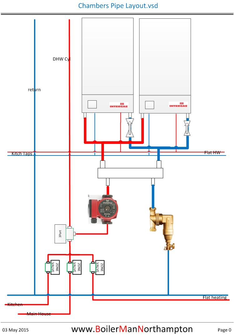 Low Loss Headers Close Coupled Ts Heating Help The Wall Piping Layout Drawing Chambers Pipe
