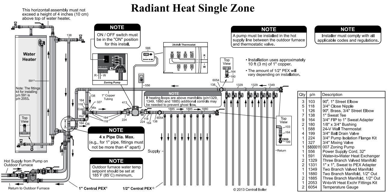 new radiant system questions  1 zone   domestic hot water