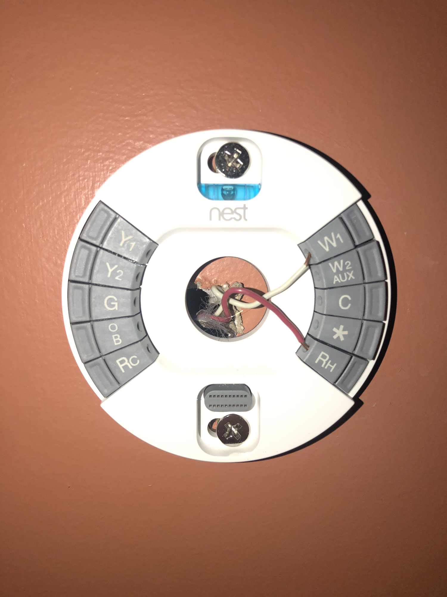 Nest Thermostat  2 Zone Issue   U2014 Heating Help  The Wall