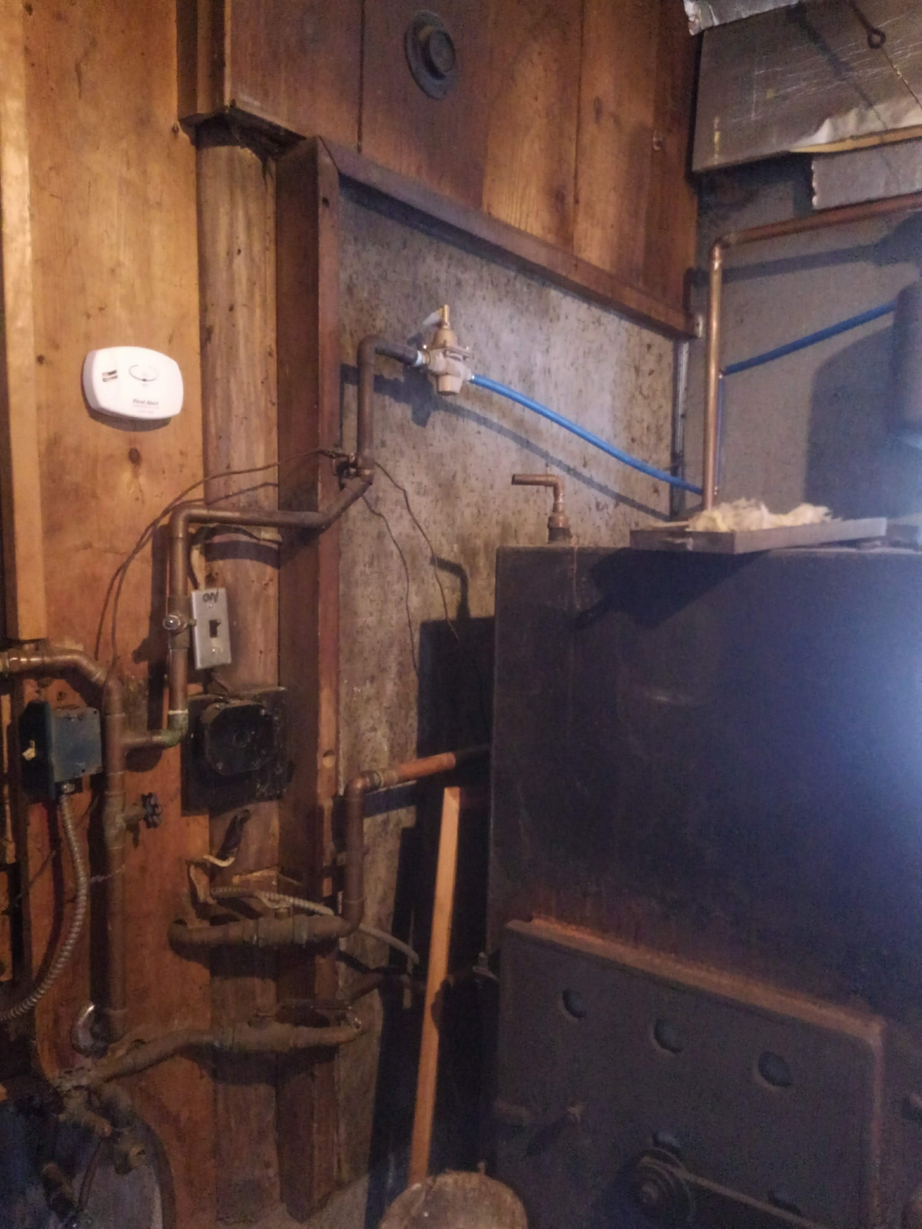wood boiler hook up