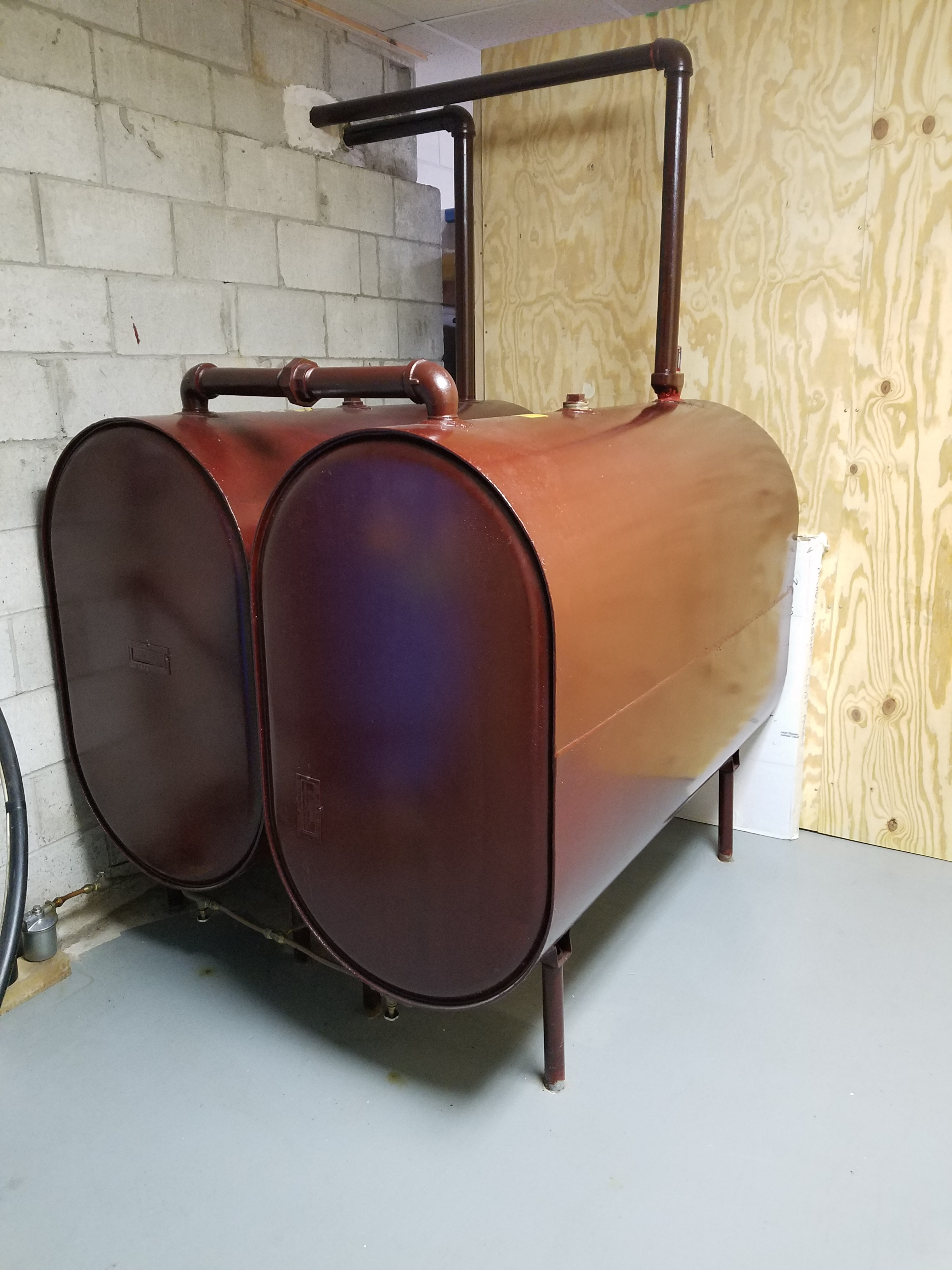 2 275 Gallon Heating Oil Tanks Questions Heating Help The Wall
