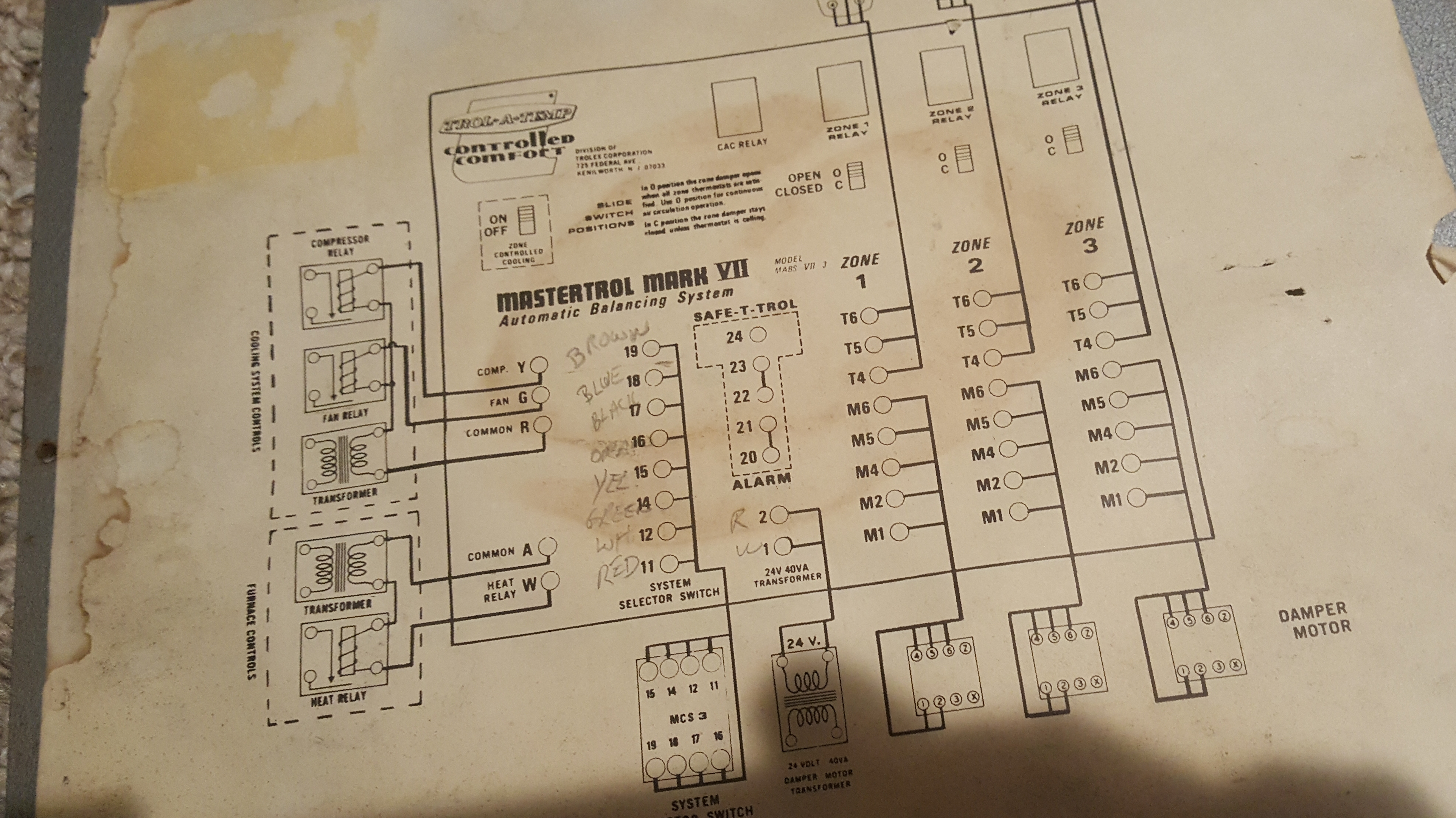 Wiring Honeywell Hz311 From A Trol Temp Mastertrol Mark Vii R8184g Diagram 46m