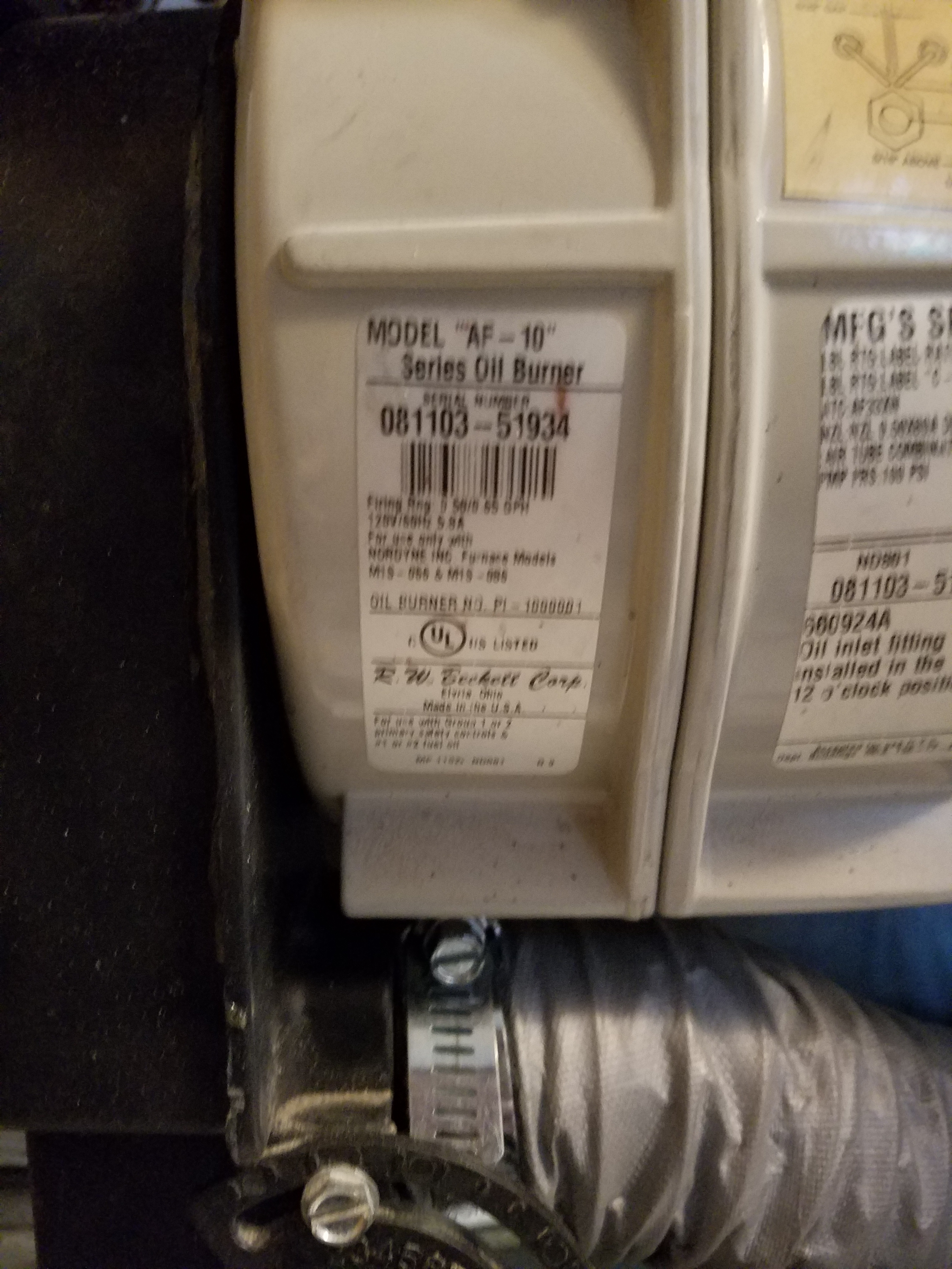 New Honeywell R7284u To Replace R7184b Wiring Question Heating Oil Furnace Limit Switch Diagram Burner Model