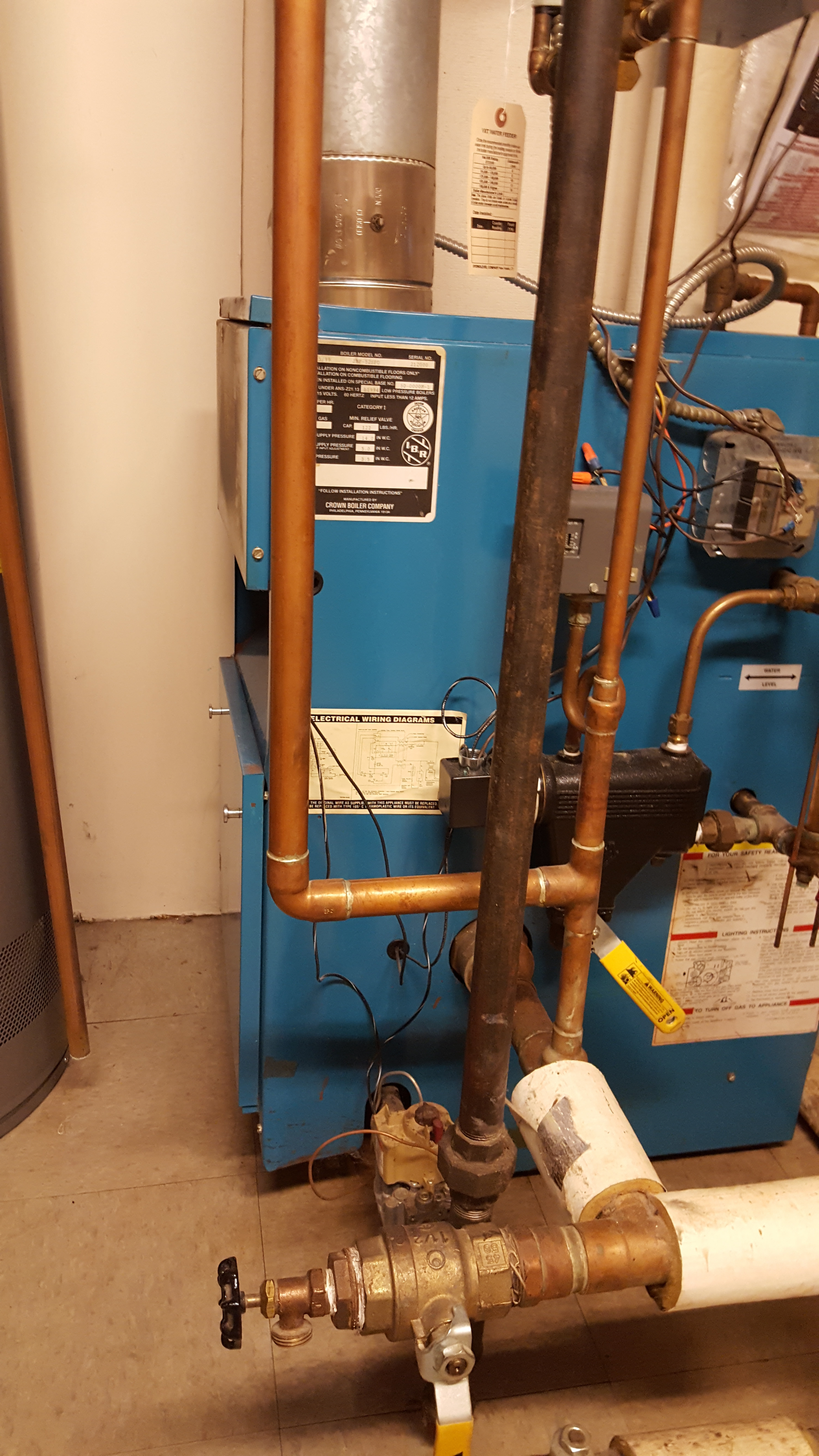 Boiler Runs Dry Then Floods Heating Help The Wall Crown Wiring Diagram Any Suggestions I Can Give My Friend Is Appreciated