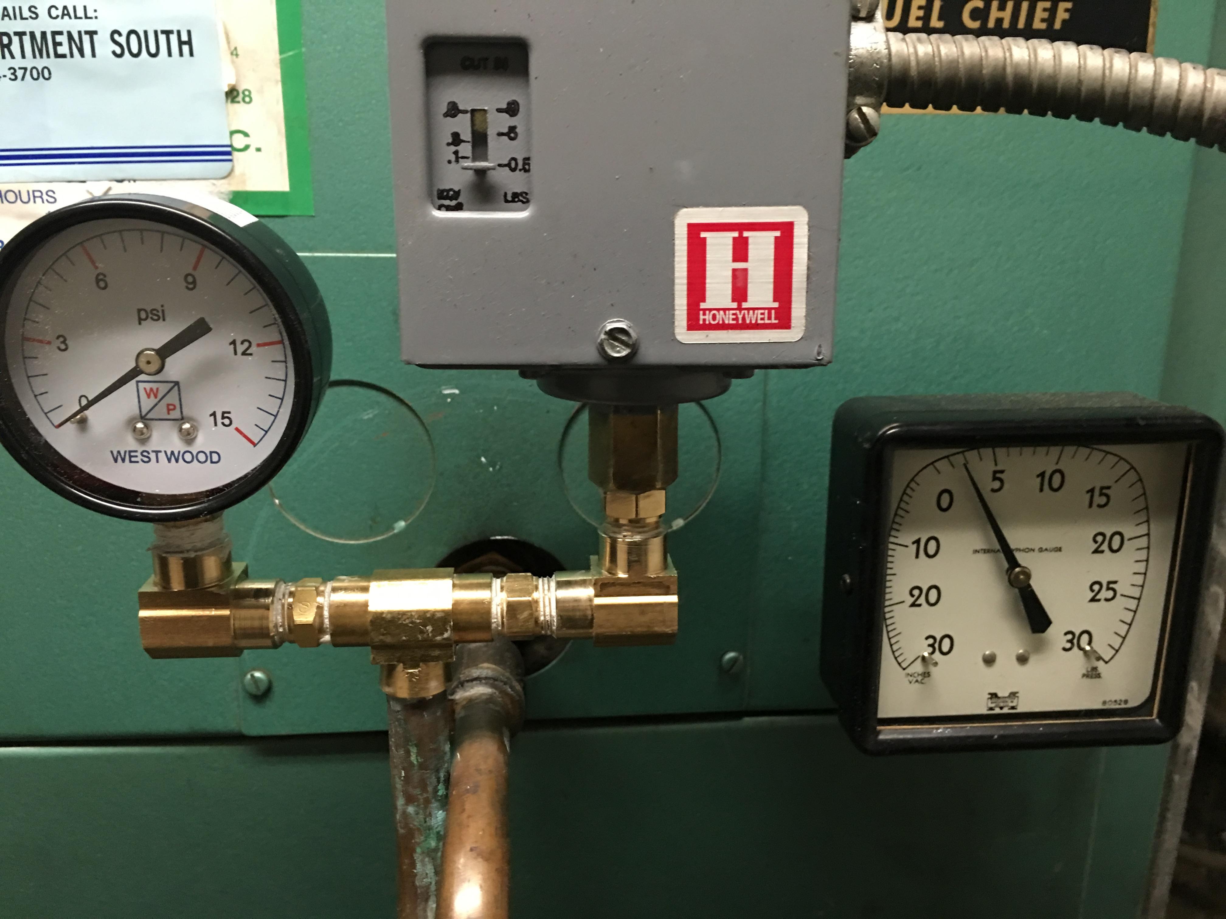 pressuretrol boiler tap pressure vs internal siphon gauge. Black Bedroom Furniture Sets. Home Design Ideas