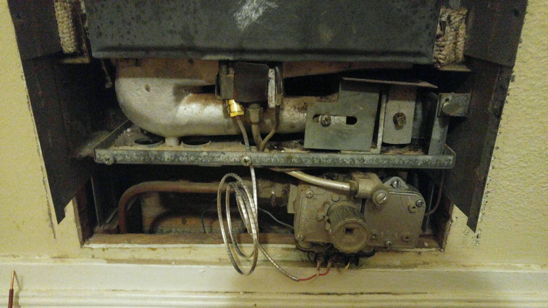 Old Gas Wall Heater Pilot Light Trouble Heating Help