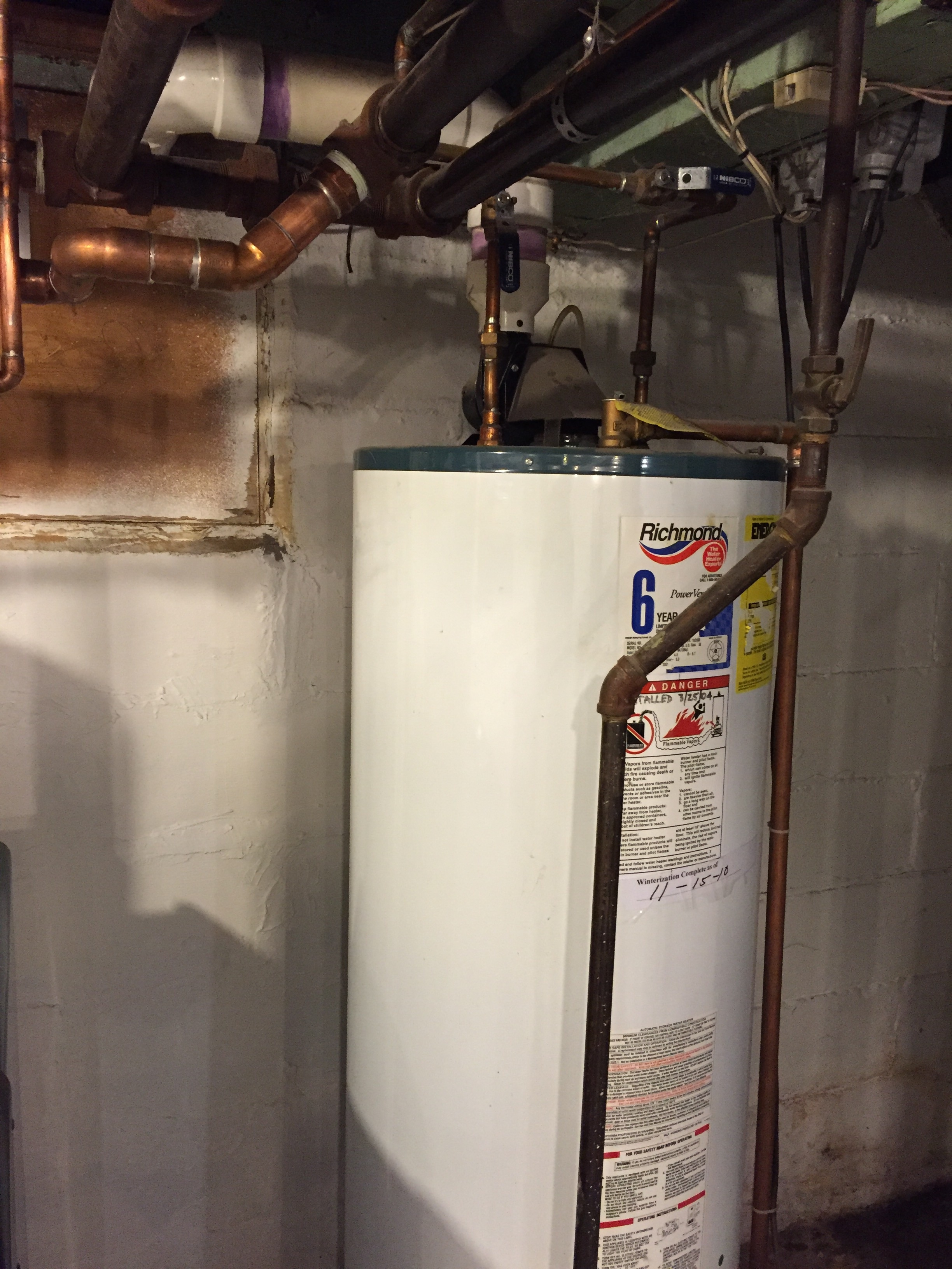 Power Vent Water Heater Photos Heating Help The Wall