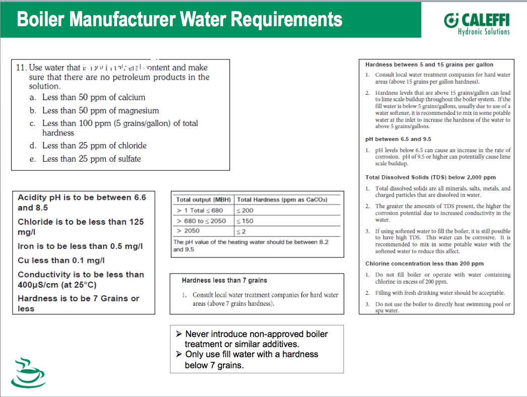 Lochinvar Water Quality — Heating Help: The Wall