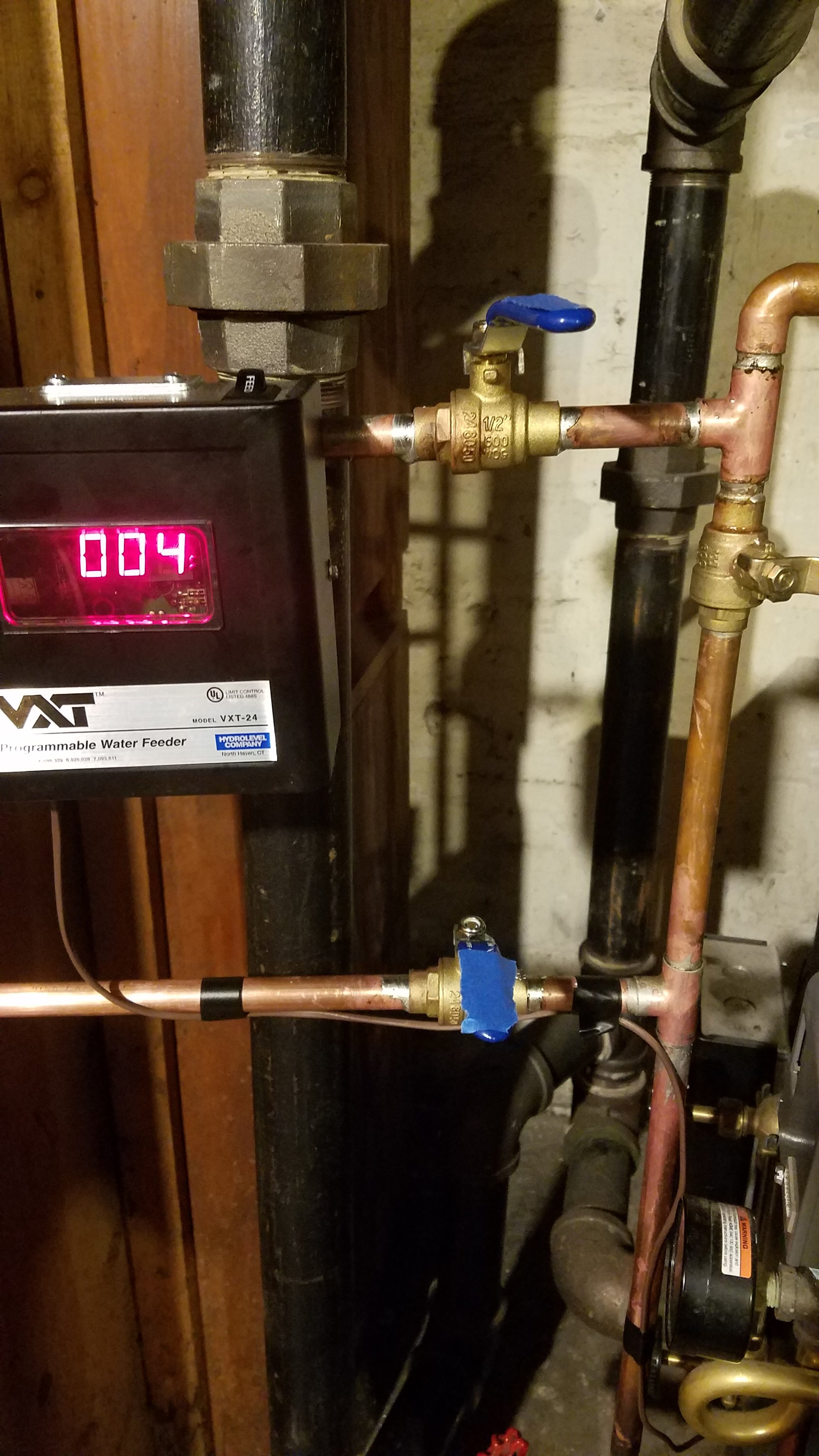 Automatic Water Feeder Install Questions On Steam Boiler
