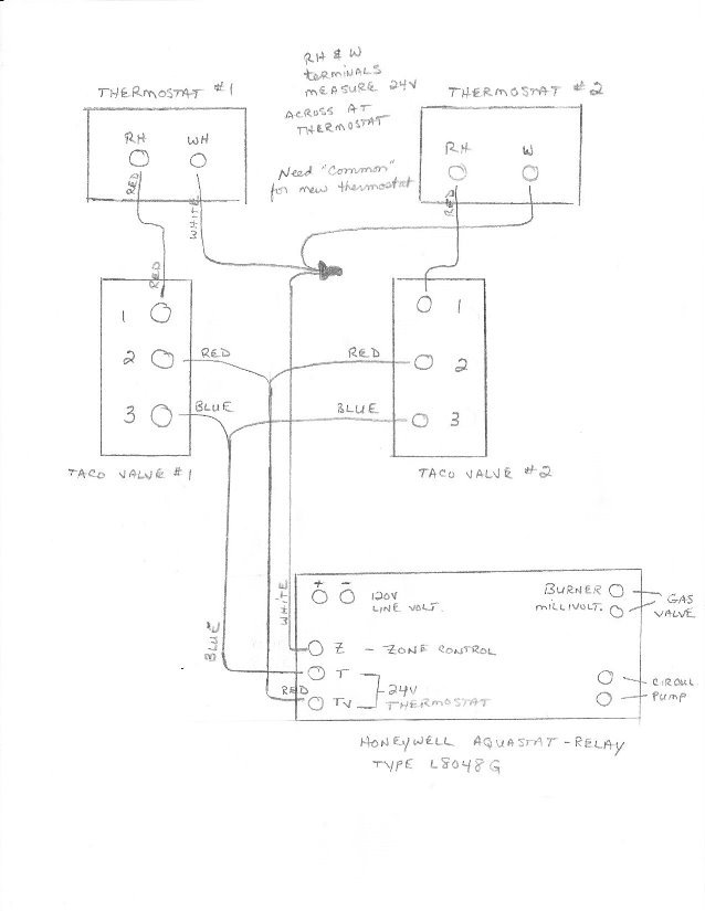 Wiring Diagram For Taco Zone Valve | Wiring Diagram on