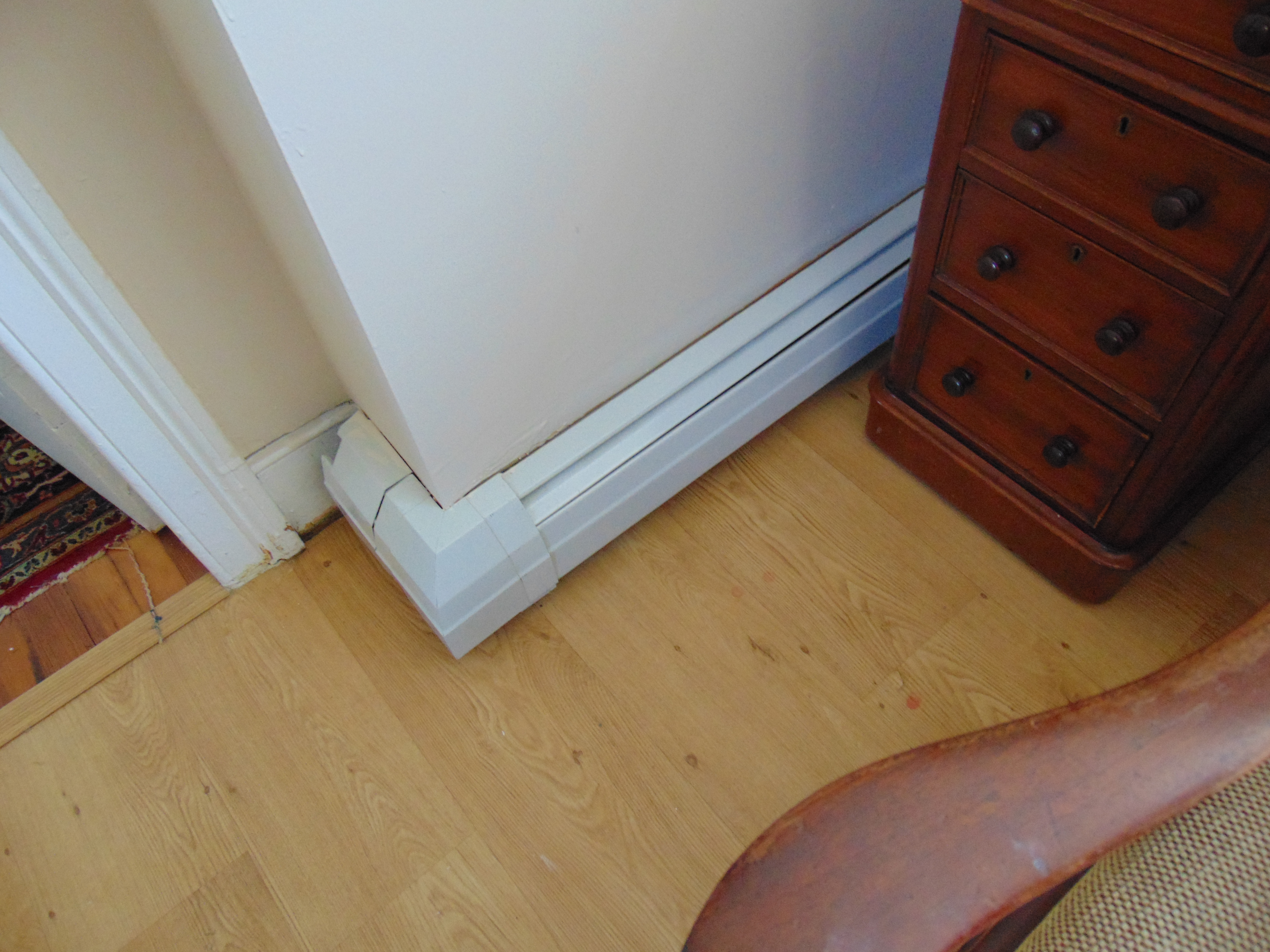 Covering Sections Of Baseboard Heaters Heating Help The Wall