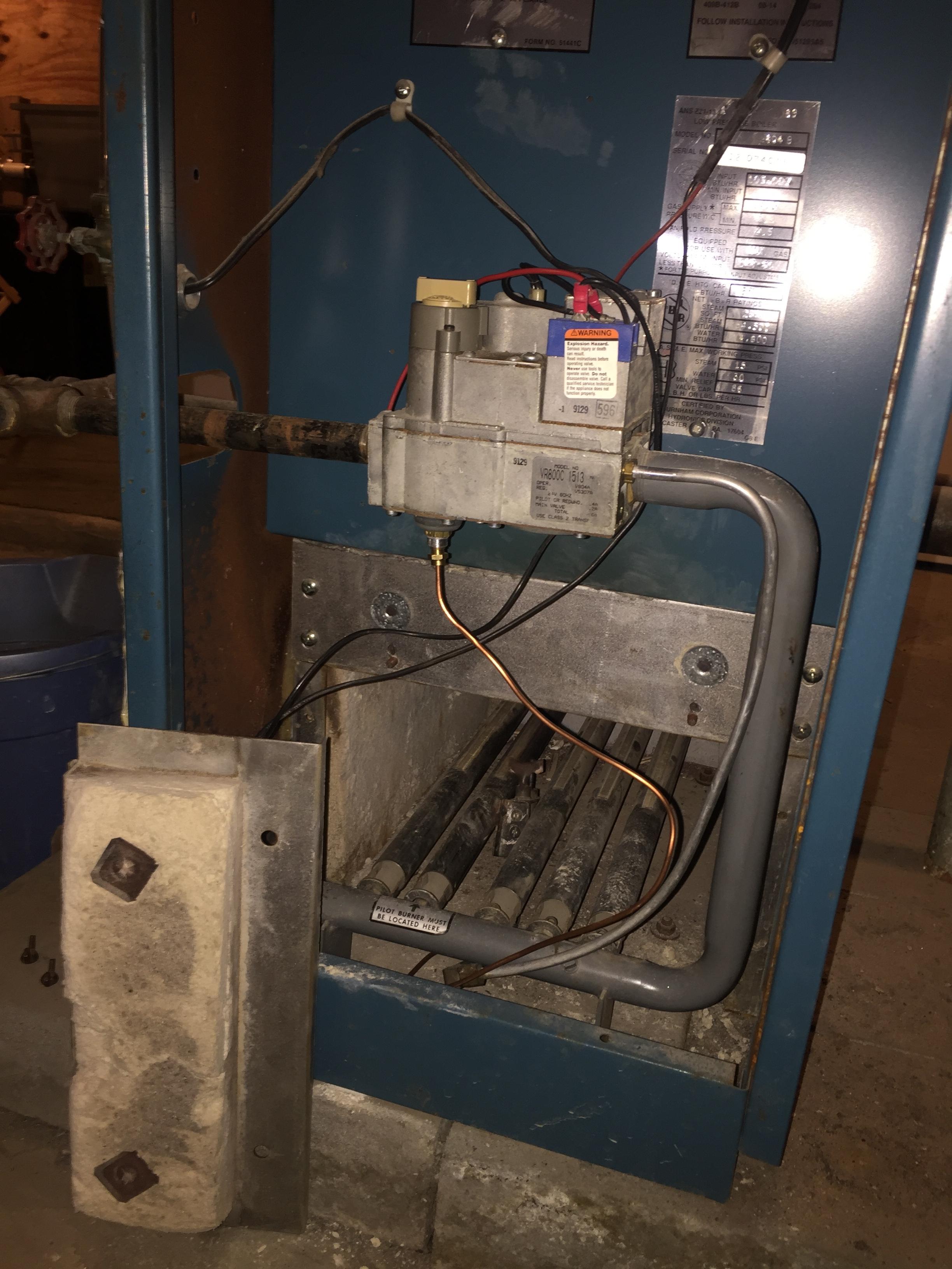 burnham steam boiler help heating help the wall