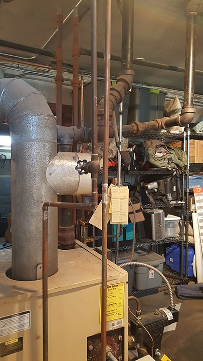 Can I convert this single pipe steam system to gas? — Heating Help ...