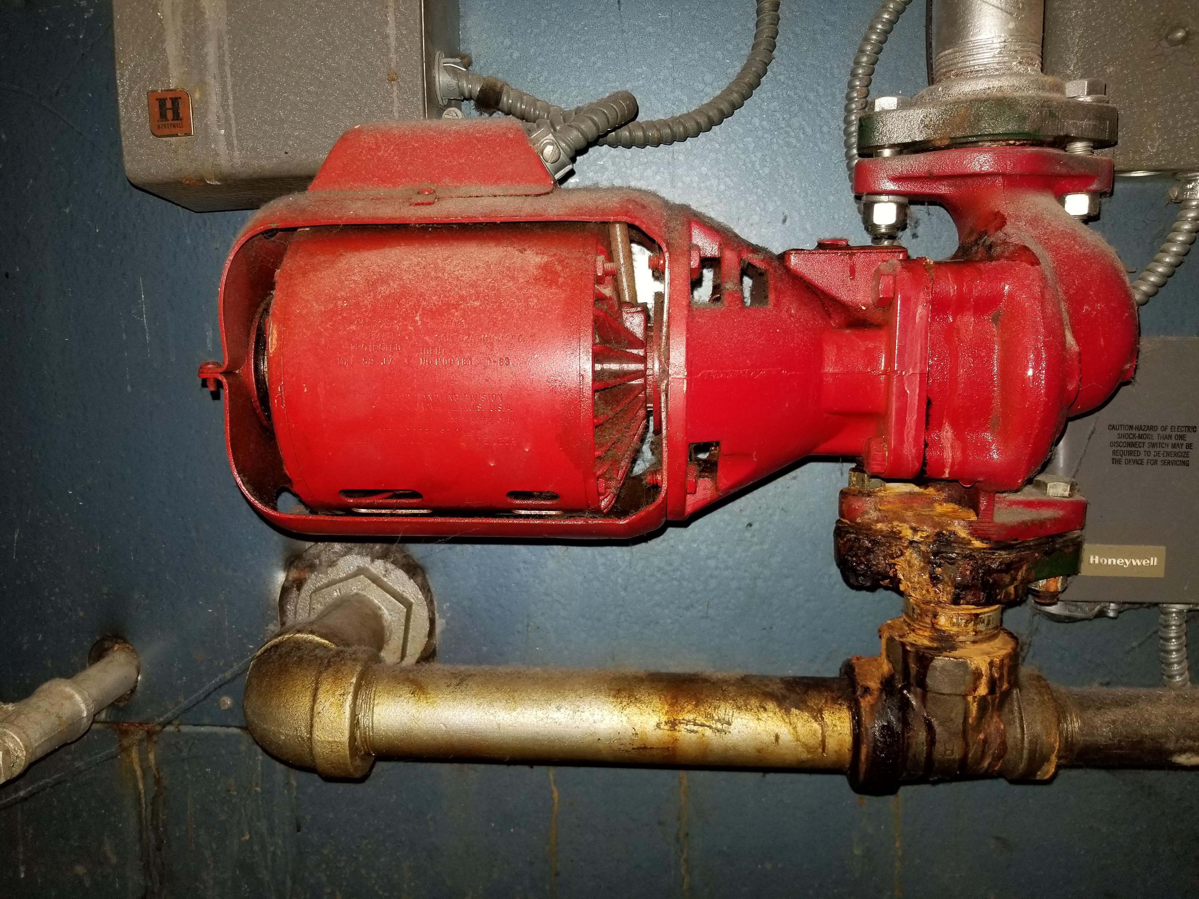 Circulator Pump Leaking Heating Help The Wall