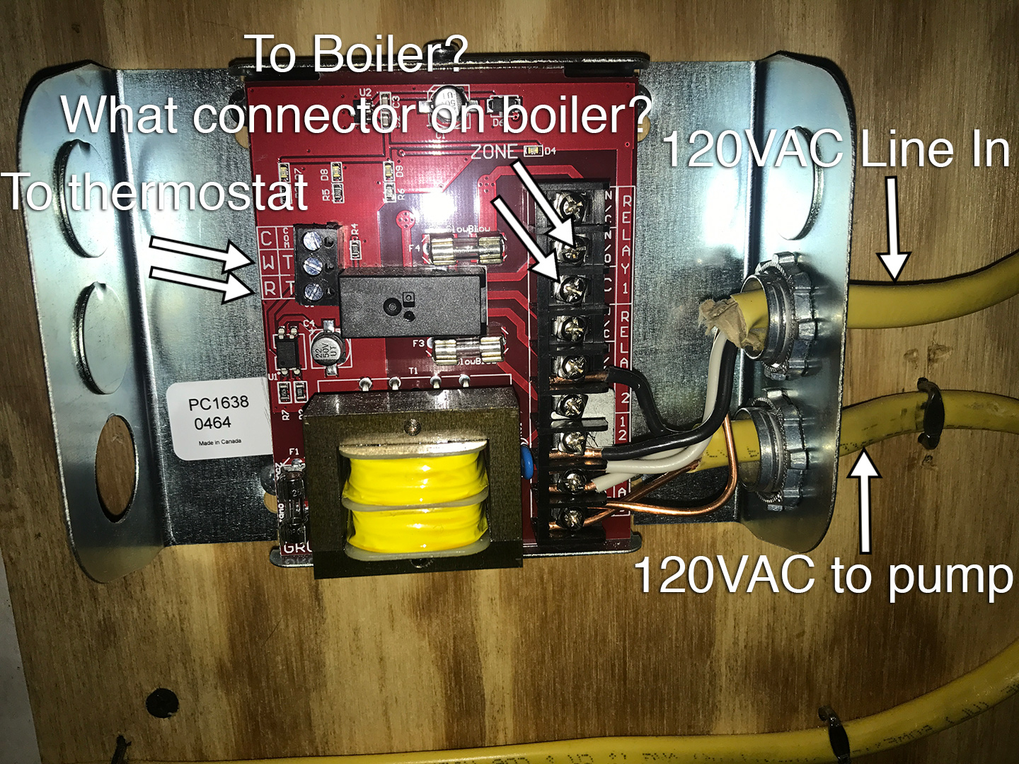 Wiring Grundfos Single Zone Relay And Pump To Rinnai E50c Boiler Diagram The Note For That Green External Connector Warning About Not Connecting A Directly Because Of Call Heat Or Dhw Energizing Circuit