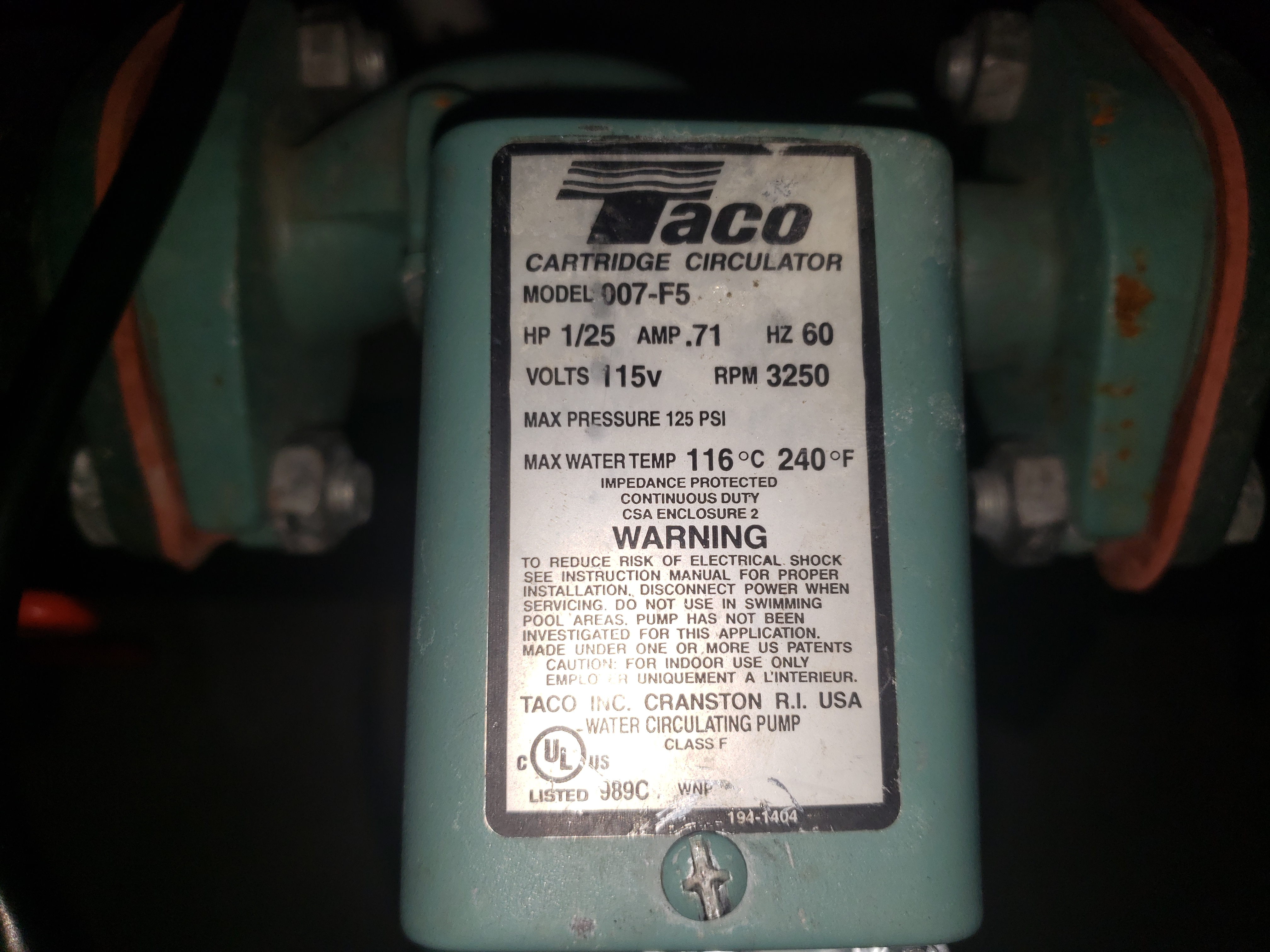 Taco 007-F5 Wiring Mystery — Heating Help: The WallHeating Help: The Wall - HeatingHelp.com