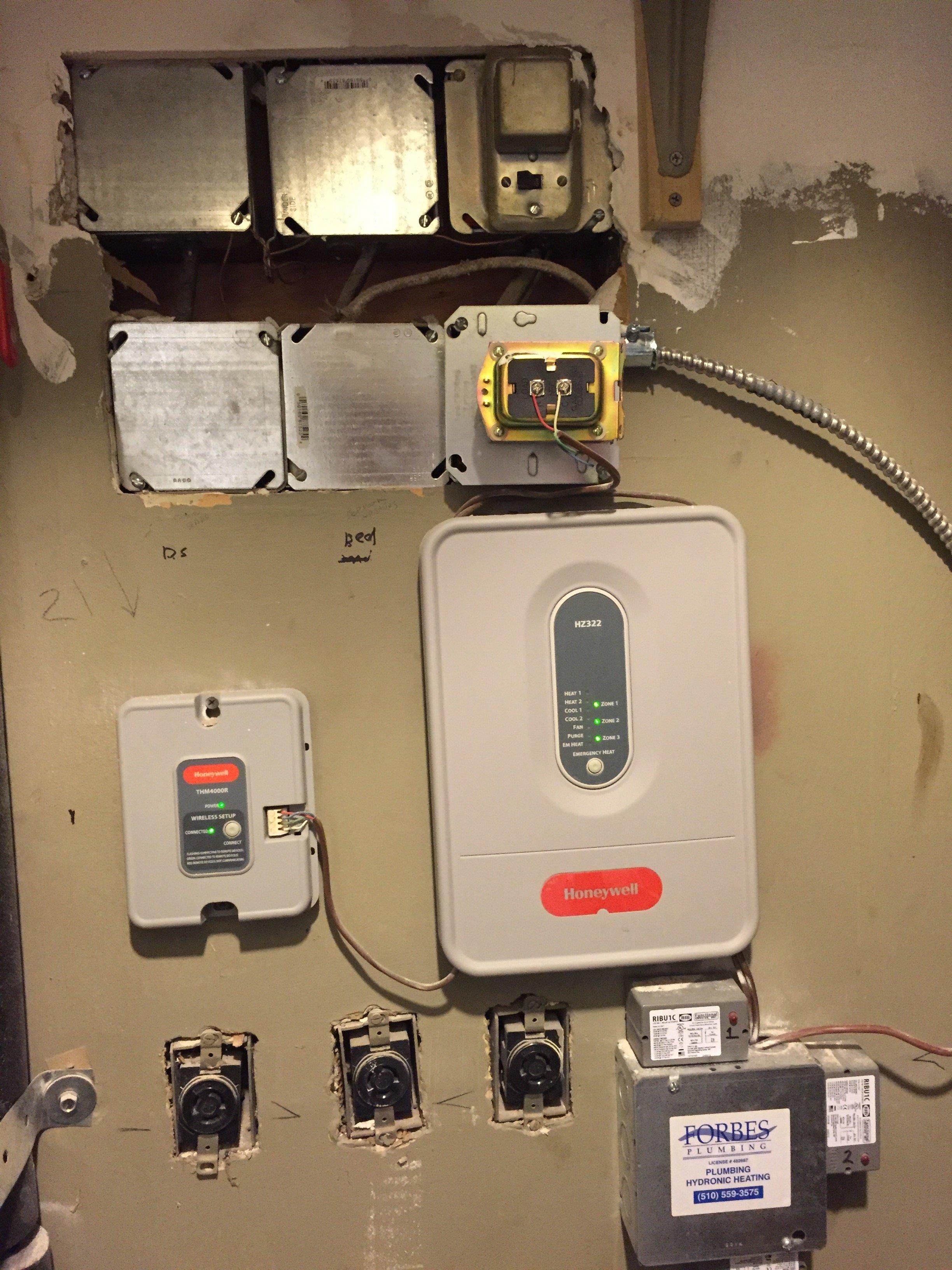 Wireless Honeywell Zone Valve Data Wiring Troubleshooting Tstats Redlink Experience Heating Help The Wall Rh Forum Heatinghelp Com Replacement Head