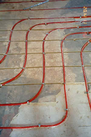 Cut Grooves For Pex Tubing Into Concrete Slab Heating