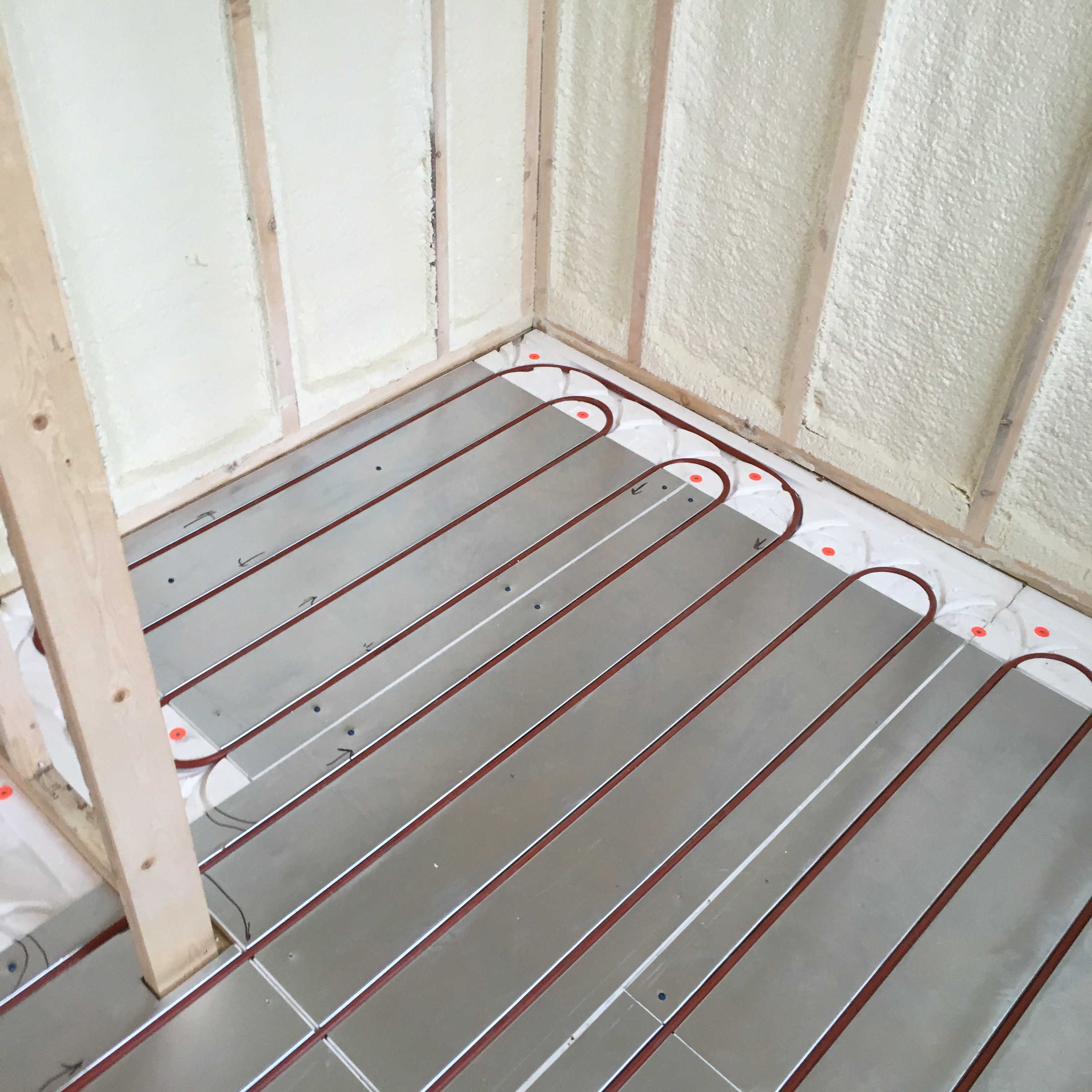 floor heat ceiling radiant renew homes columbine projects recent heating house