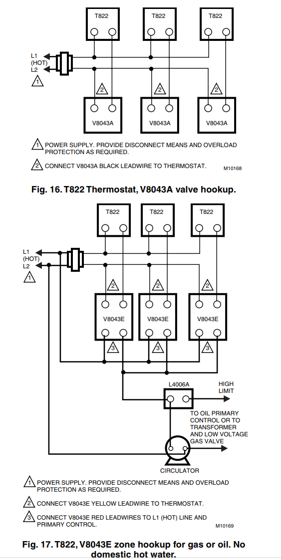 Honeywell V8043e Wiring Diagram | Wiring Schematic Diagram on
