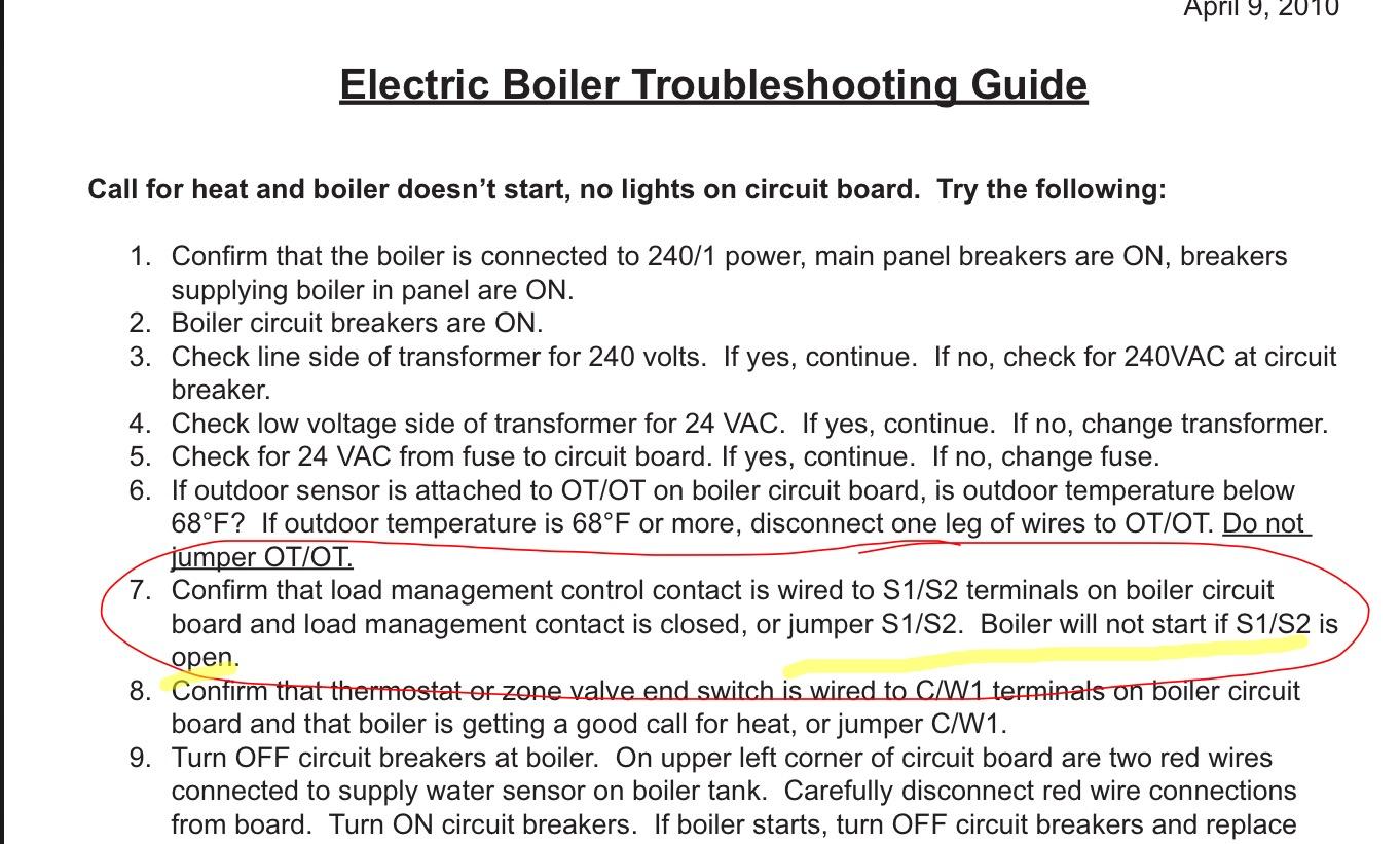 Taco SR 501 wont turn on boiler — Heating Help: The Wall