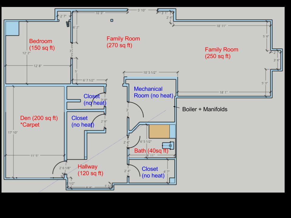 Hydronic Radiant Heat Retrofit On Uninsulated Concrete
