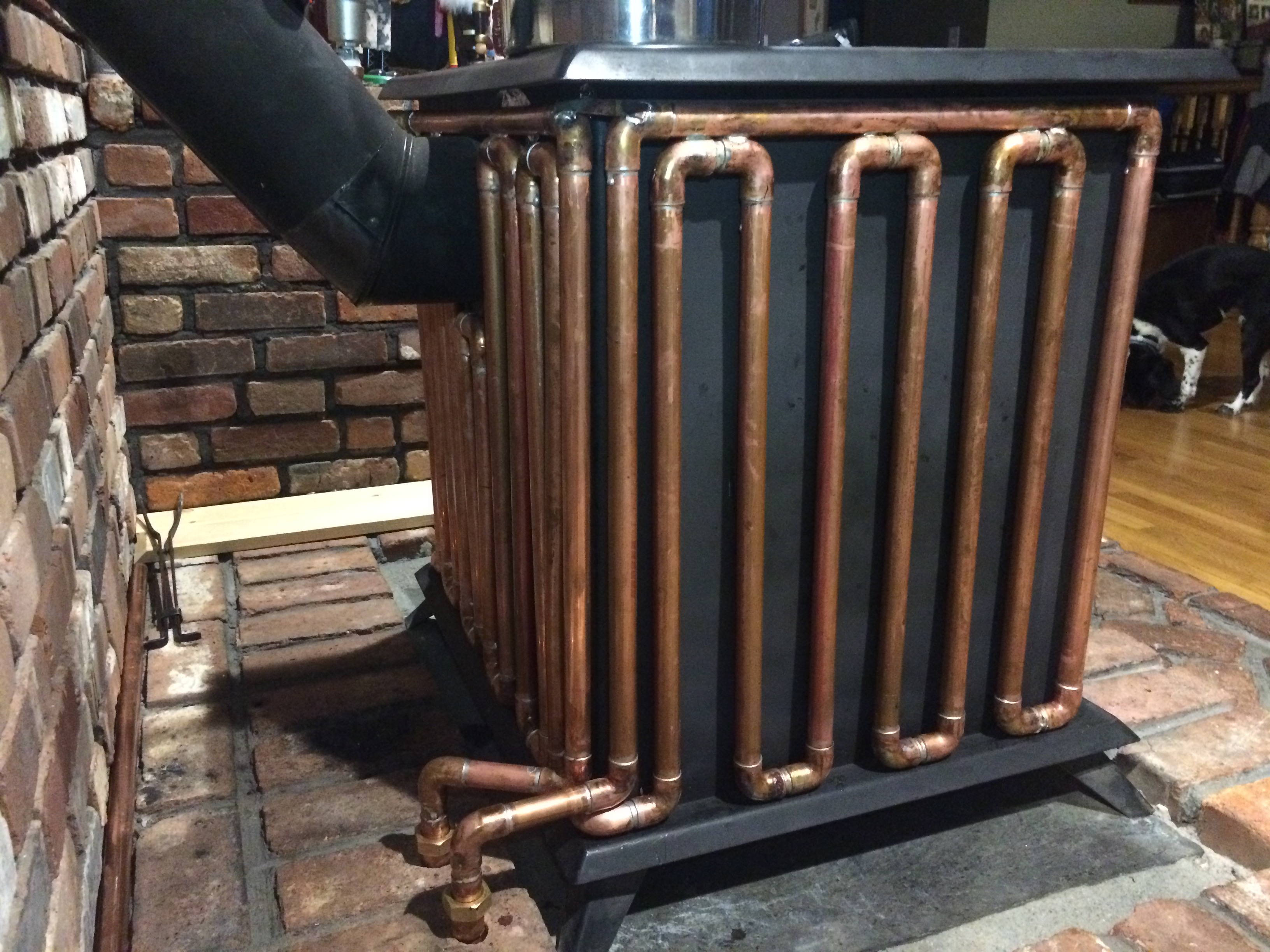 Wood Stove Hydronic Radiant Heat