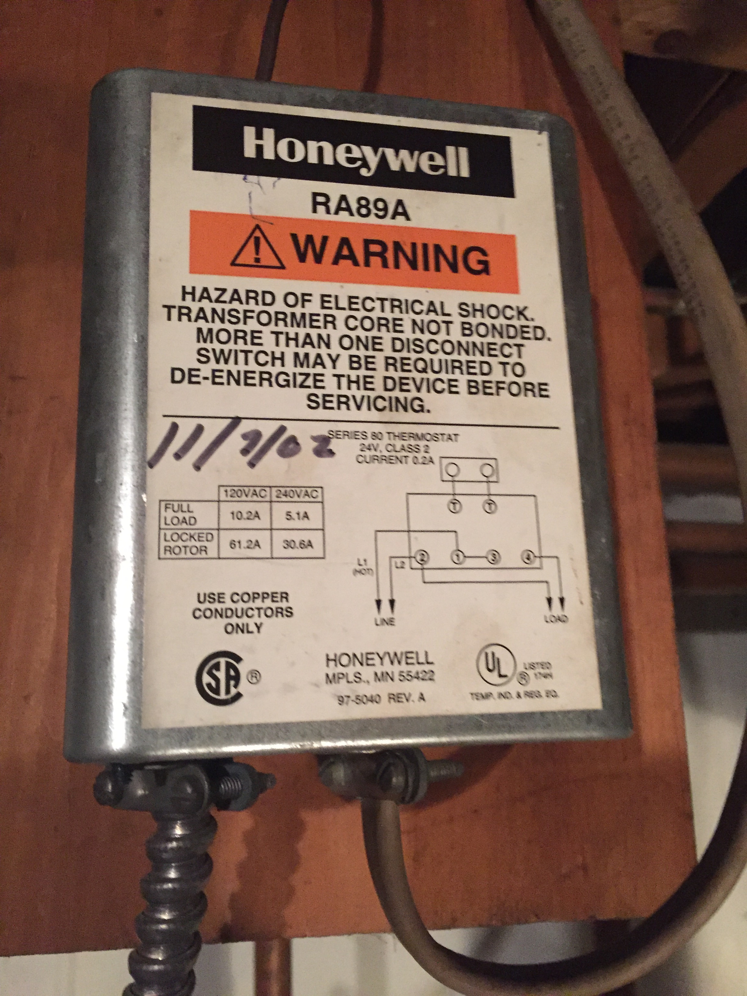 Only One of Two Zones Firing, Honeywell RA89A — Heating Help: The WallHeating Help: The Wall - HeatingHelp.com