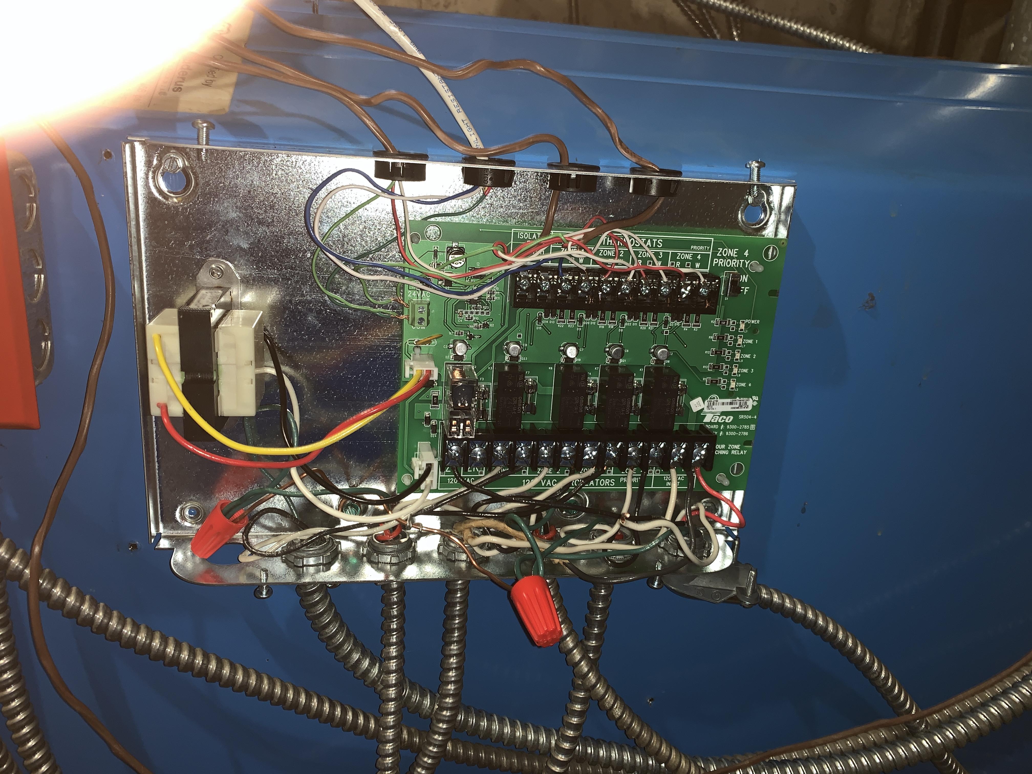 Wiring Taco Sr504-4 Help  - Hvac